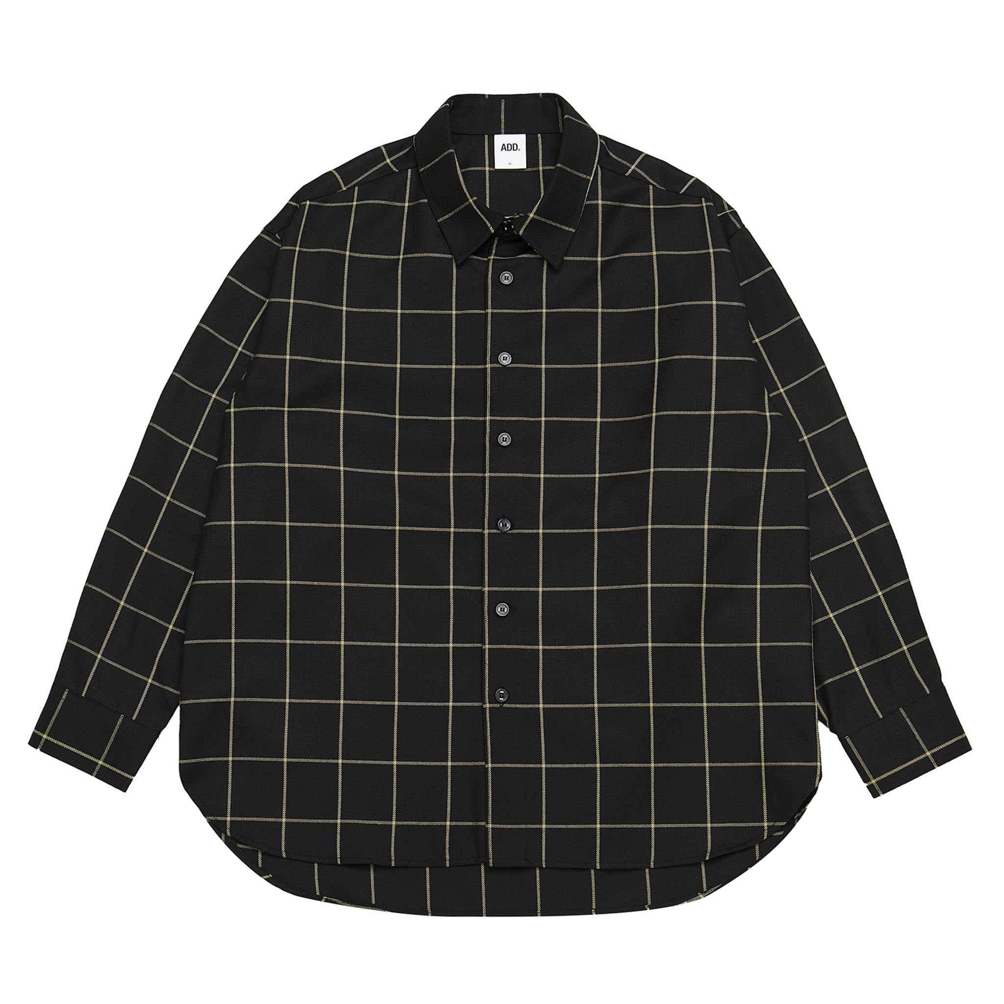 ADD Window Check Shirt Black