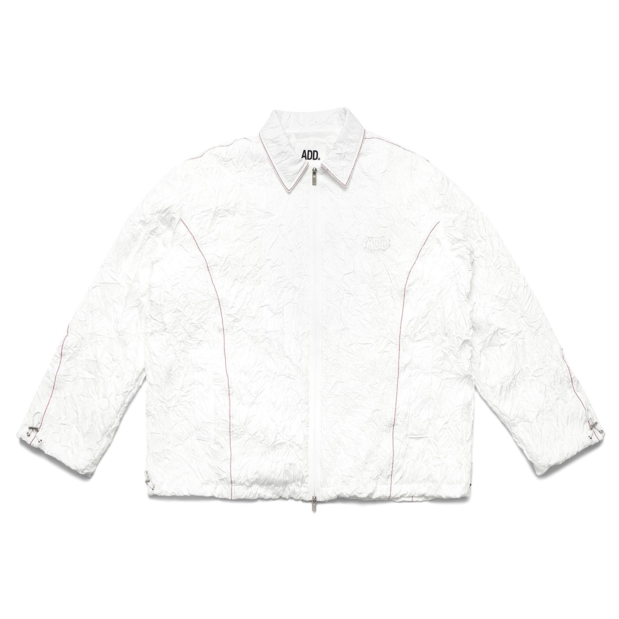 ADD Signal Twist Sleeve String Jacket White