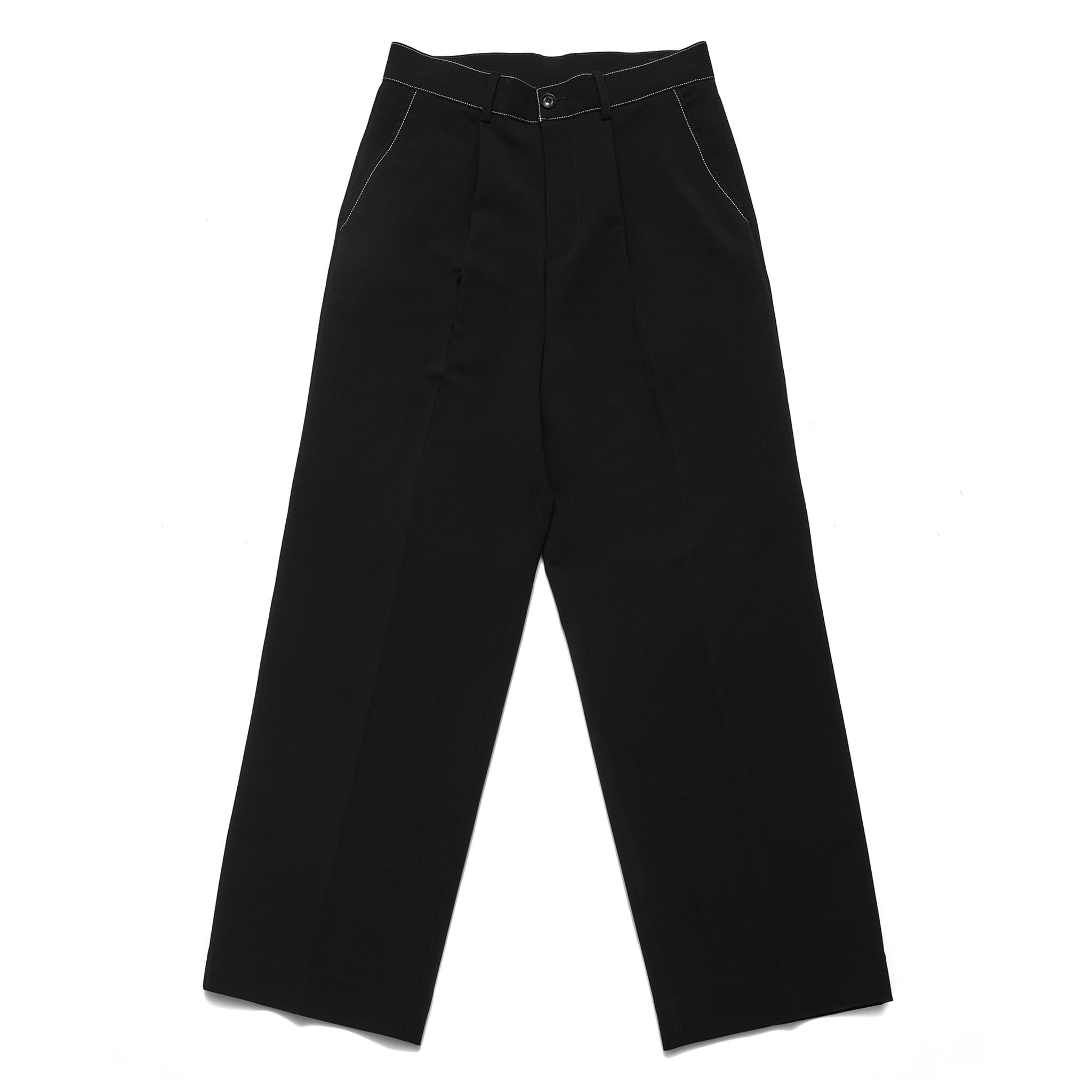 ADD Belt Stitch Extra Super Wide Trouser Black
