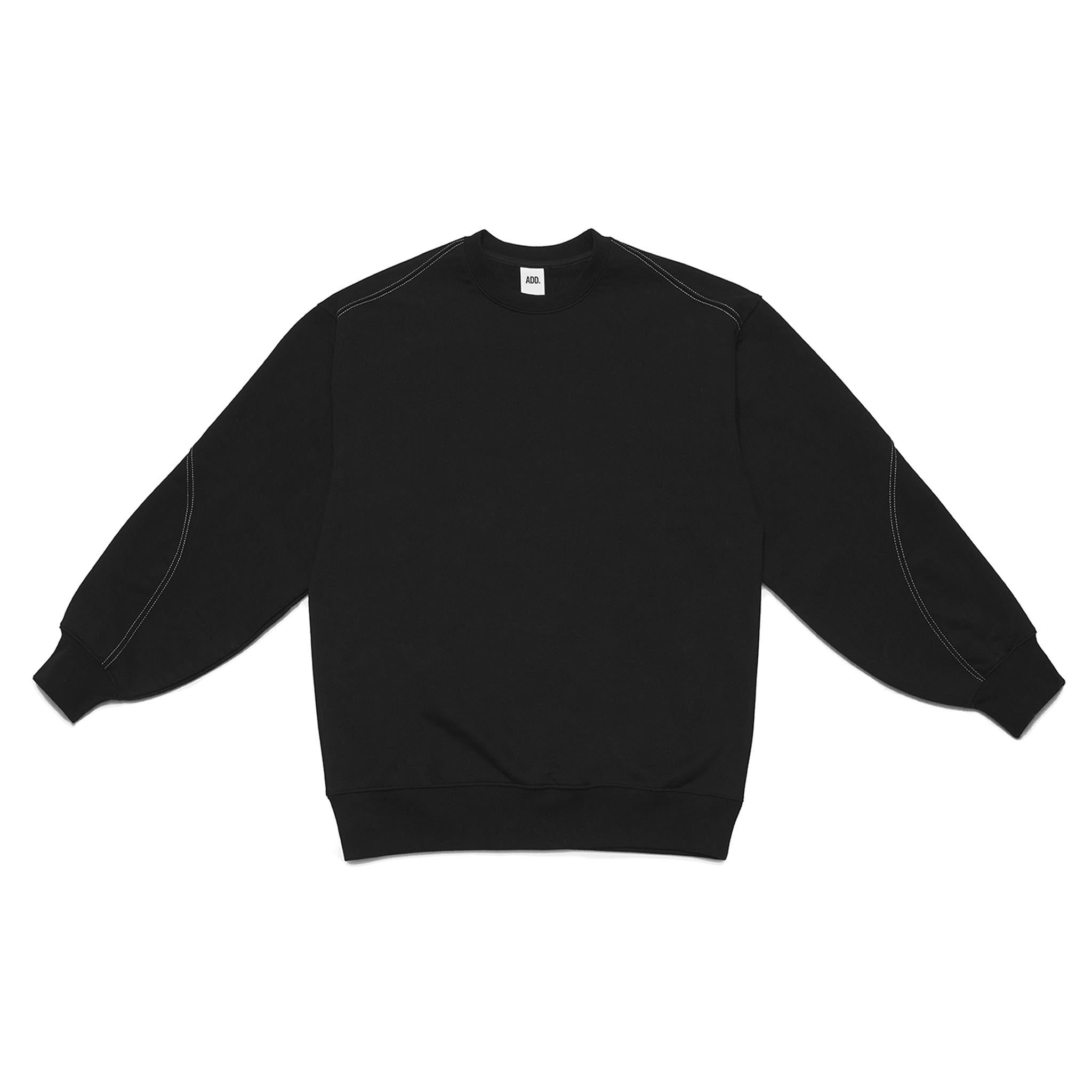 ADD Twist Stitch Cutout Sweatshirt Black