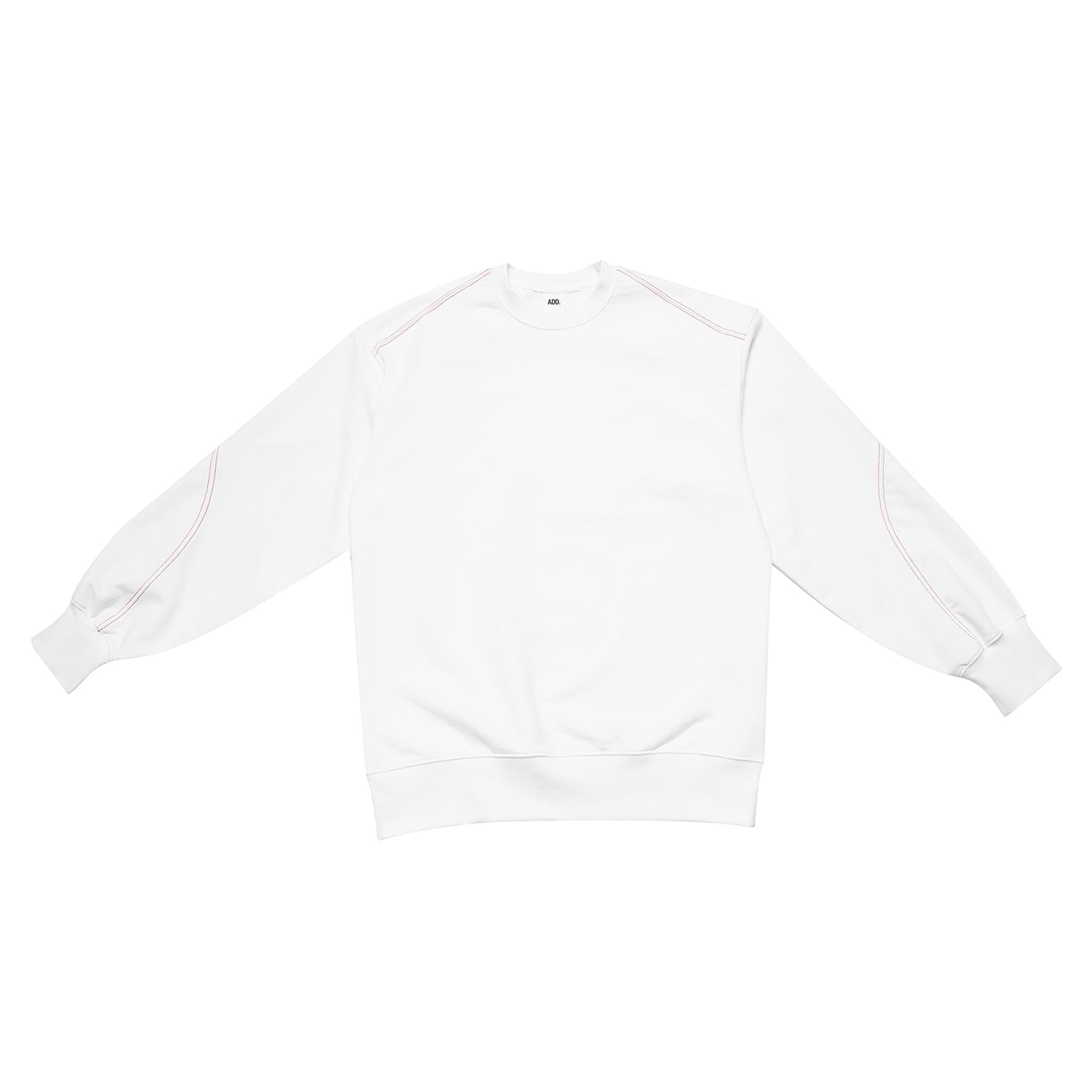 ADD Twist Stitch Cutout Sweatshirt White