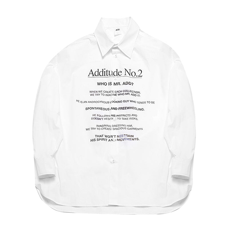 ADD Additude No.2 Shirt White