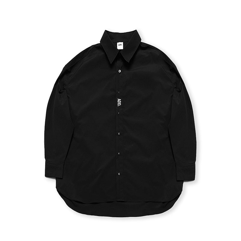 ADD Folded Placket Shirt Black