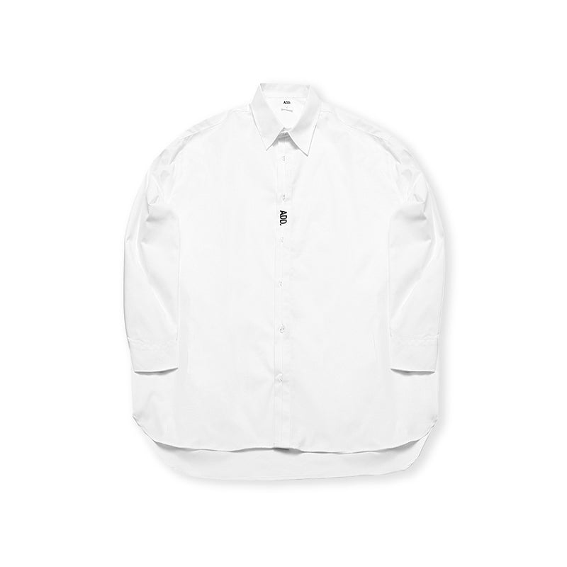 ADD Folded Placket Shirt White