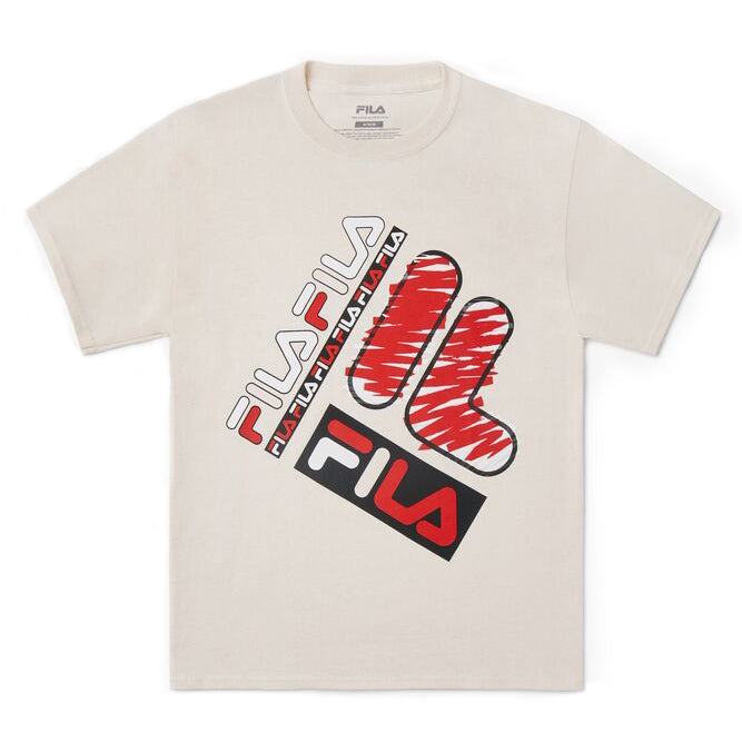 Fila x Biggie 'Ready to Die' Tee Beige
