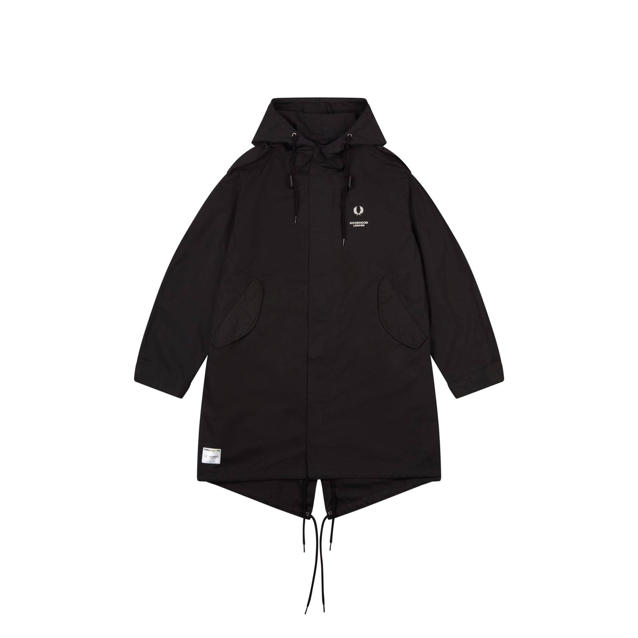 Fred Perry x Goodhood London Parka Black