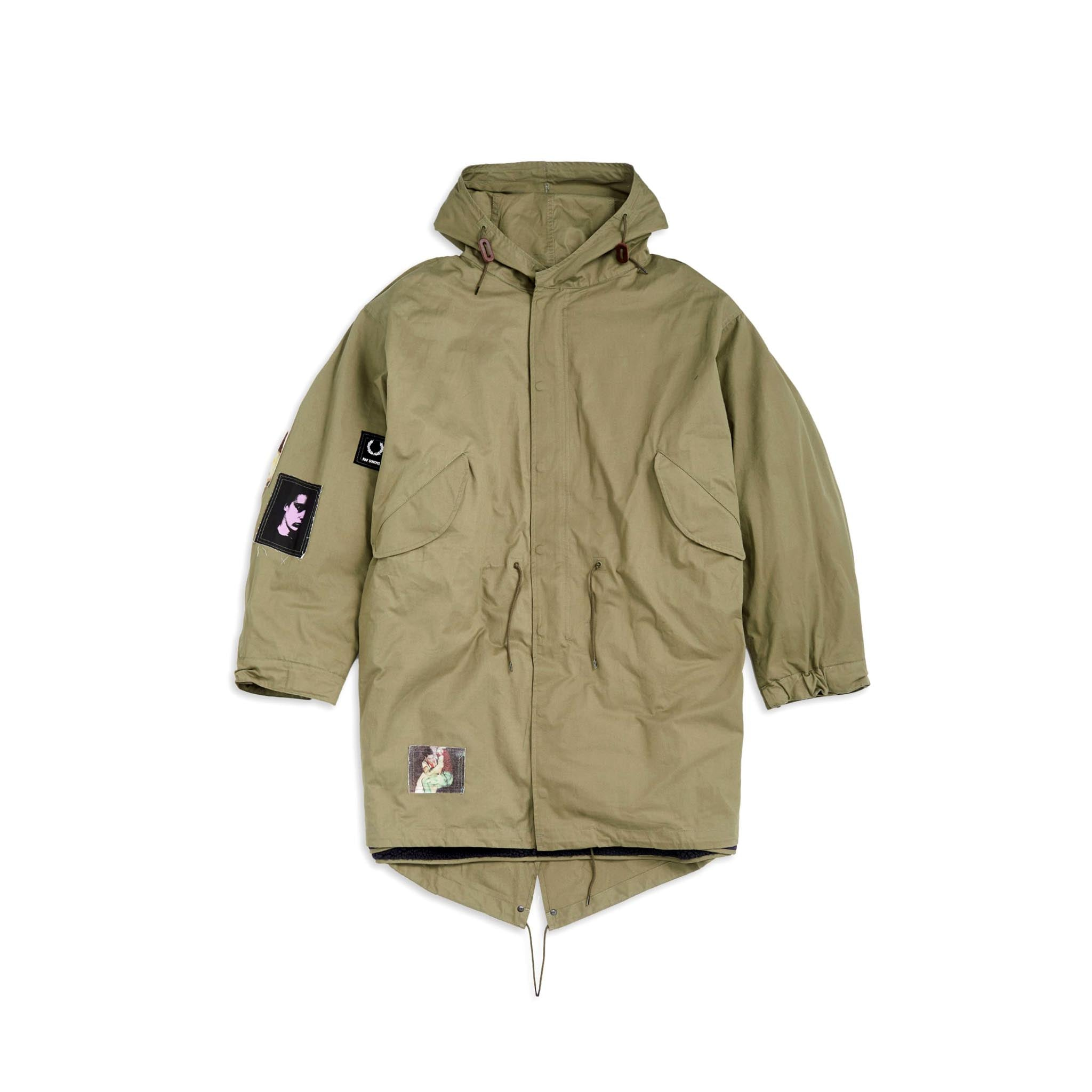 Fred Perry x Raf Simons Detachable Liner Parka Olive