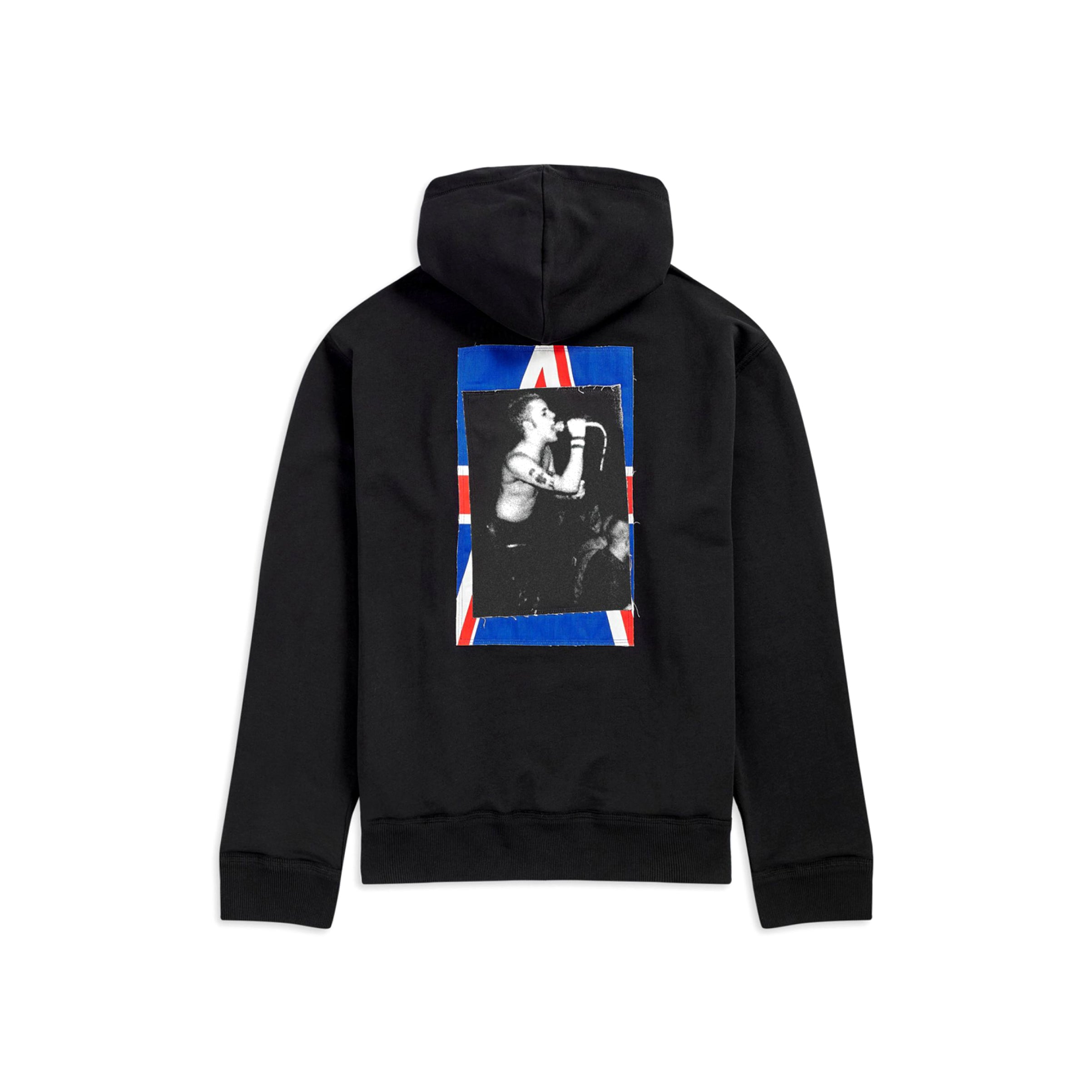 Fred Perry x Raf Simons Patched Zip Through Hoodie Black