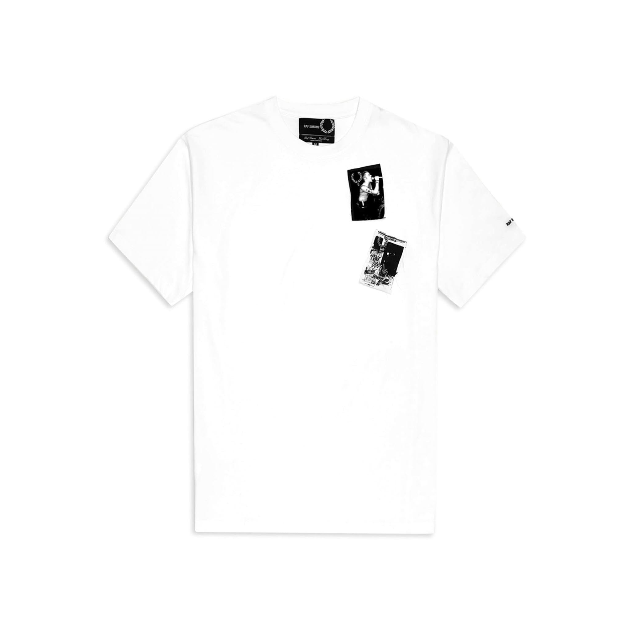 Fred Perry x Raf Simons Printed Patch Tee White