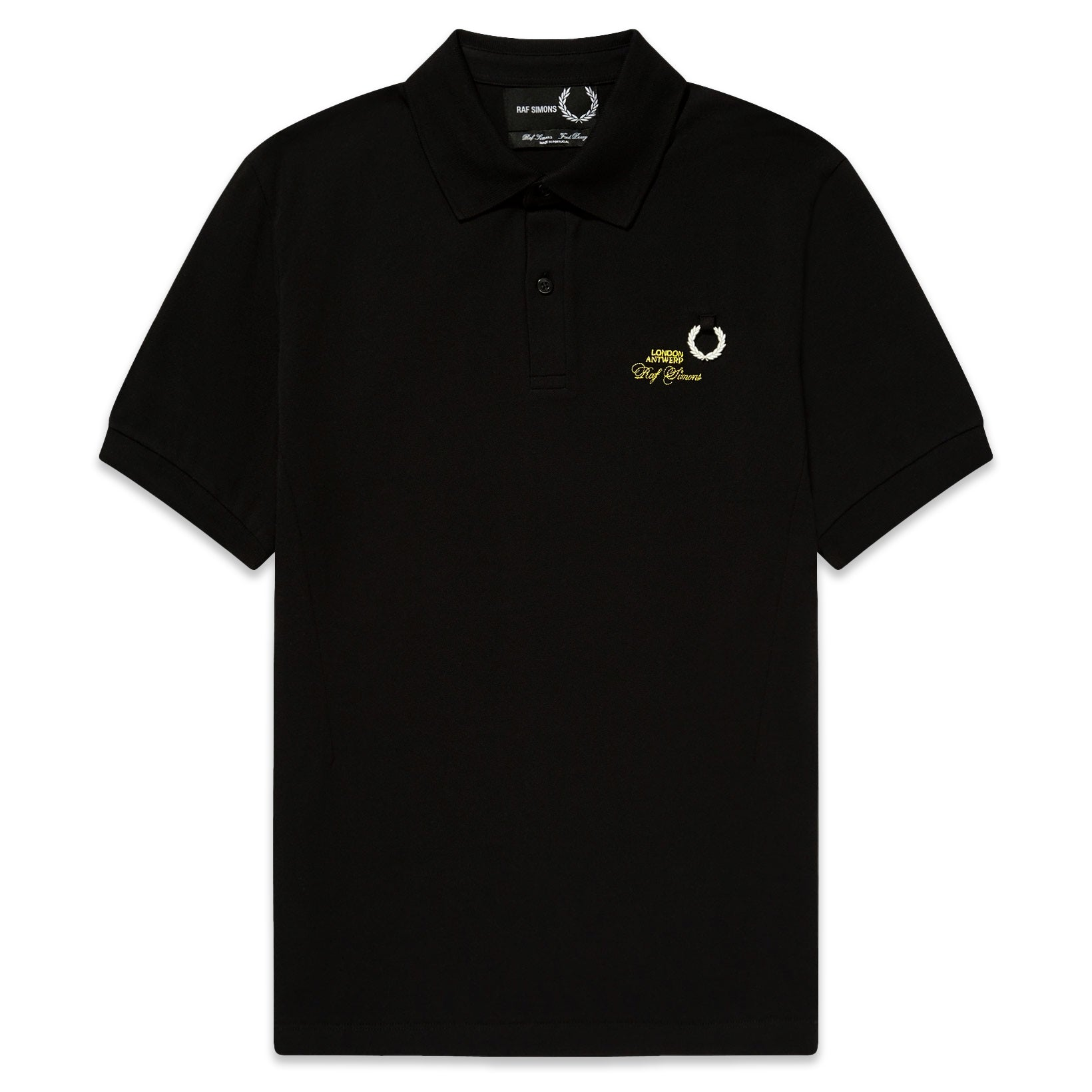 Fred Perry x Raf Simons Slim Fit Polo Black