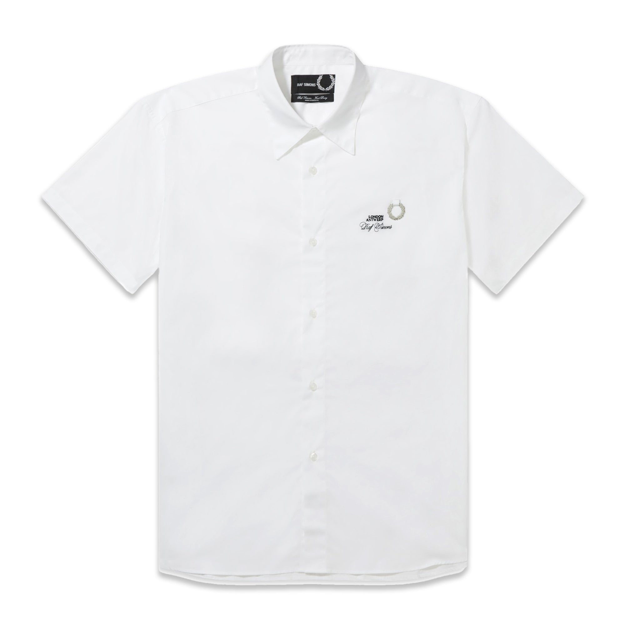 Fred Perry x Raf Simons Short Sleeve Woven Shirt White