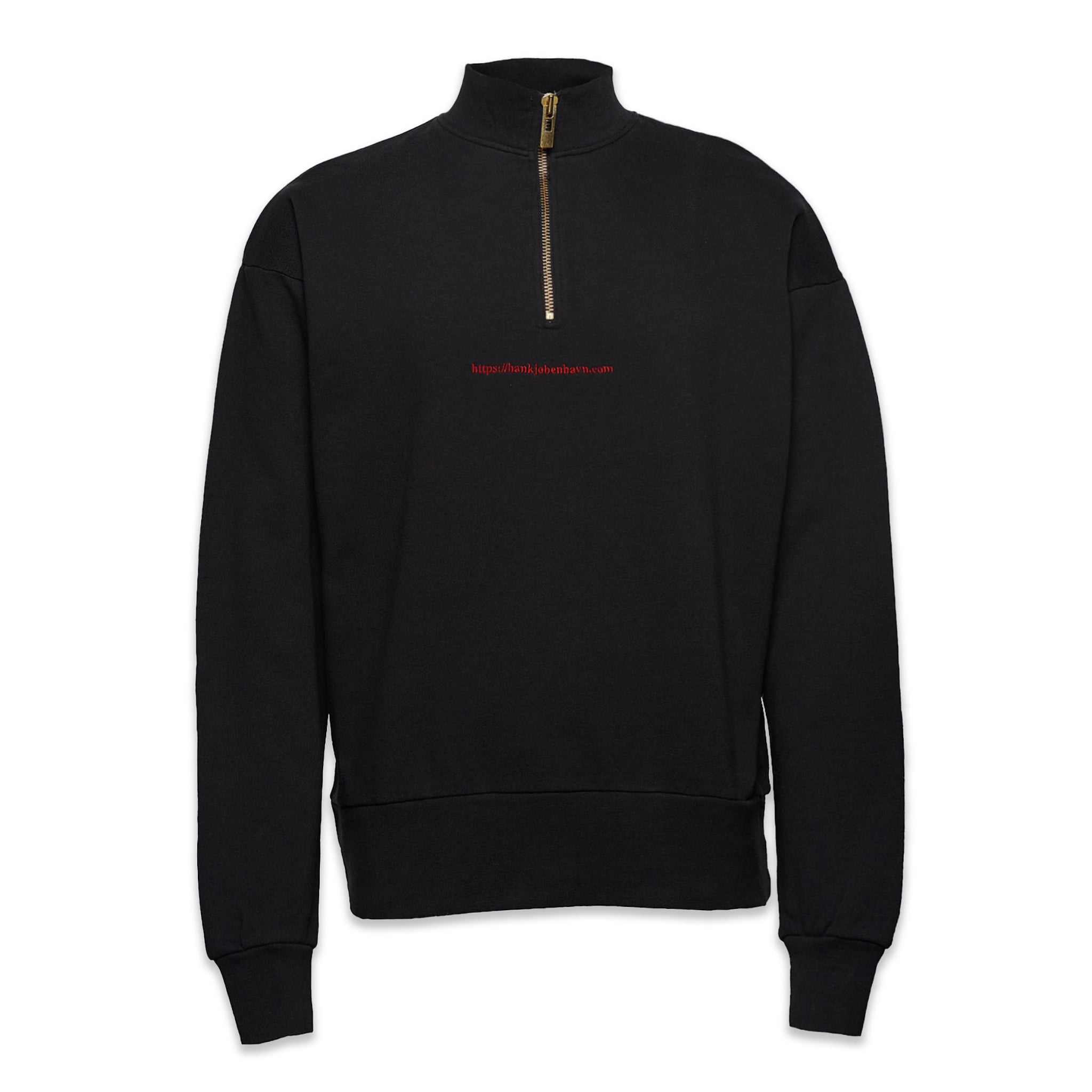 Han Kjobenhavn Half Zip Sweater Faded Black