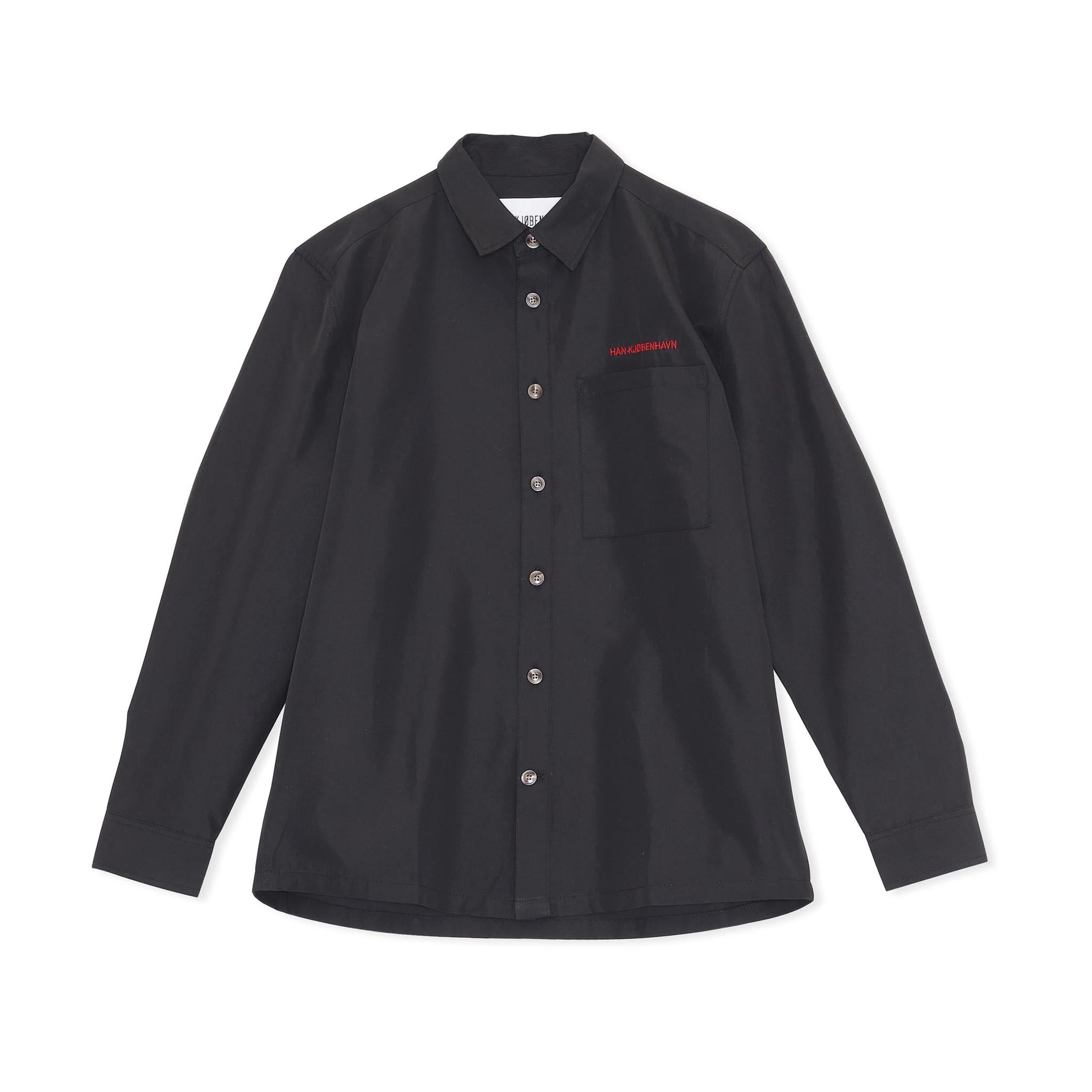 Han Kjobenhavn 'Social Resort' Boxy Shirt Black Twill