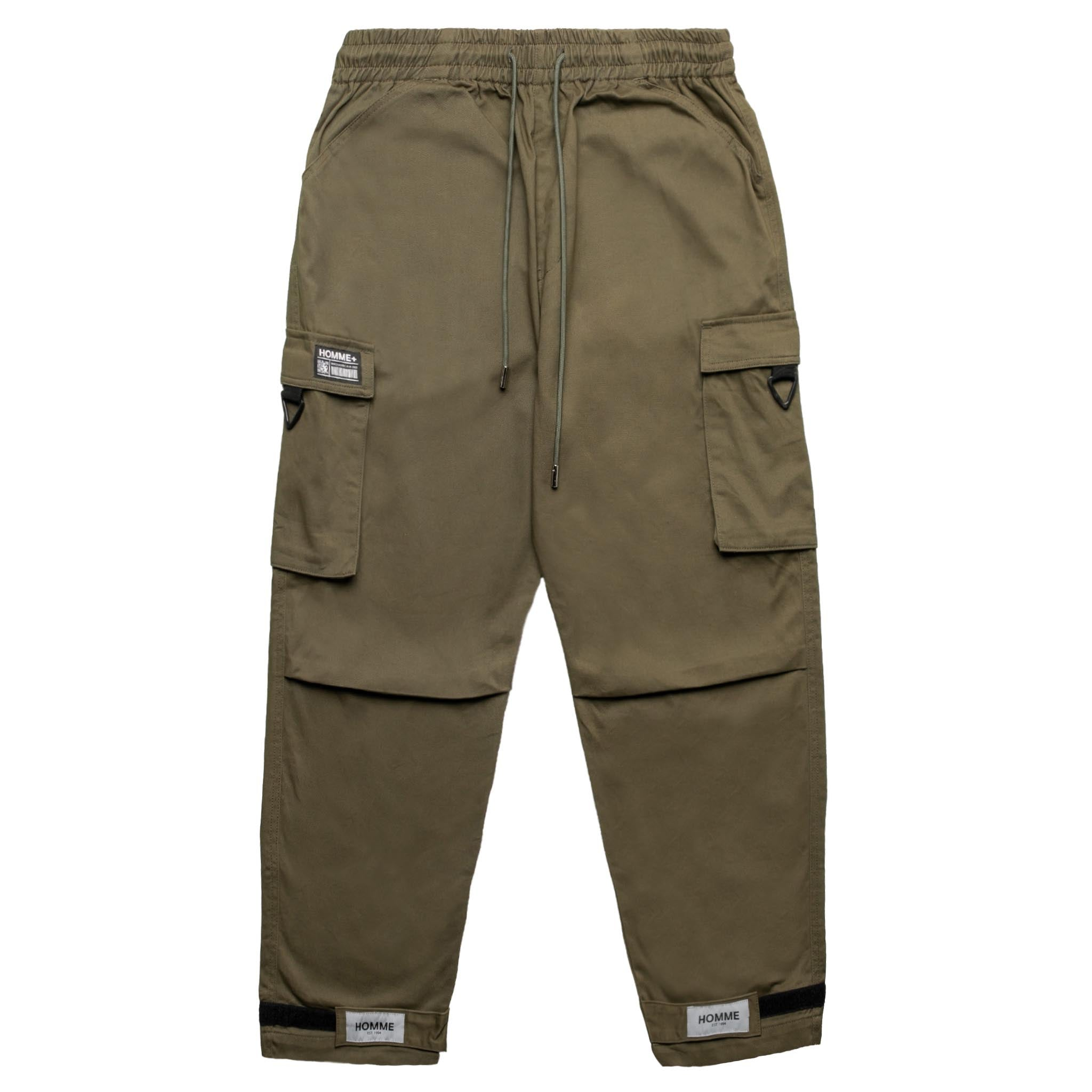HOMME+ Reflective Strap Tech Cargo Pants Army