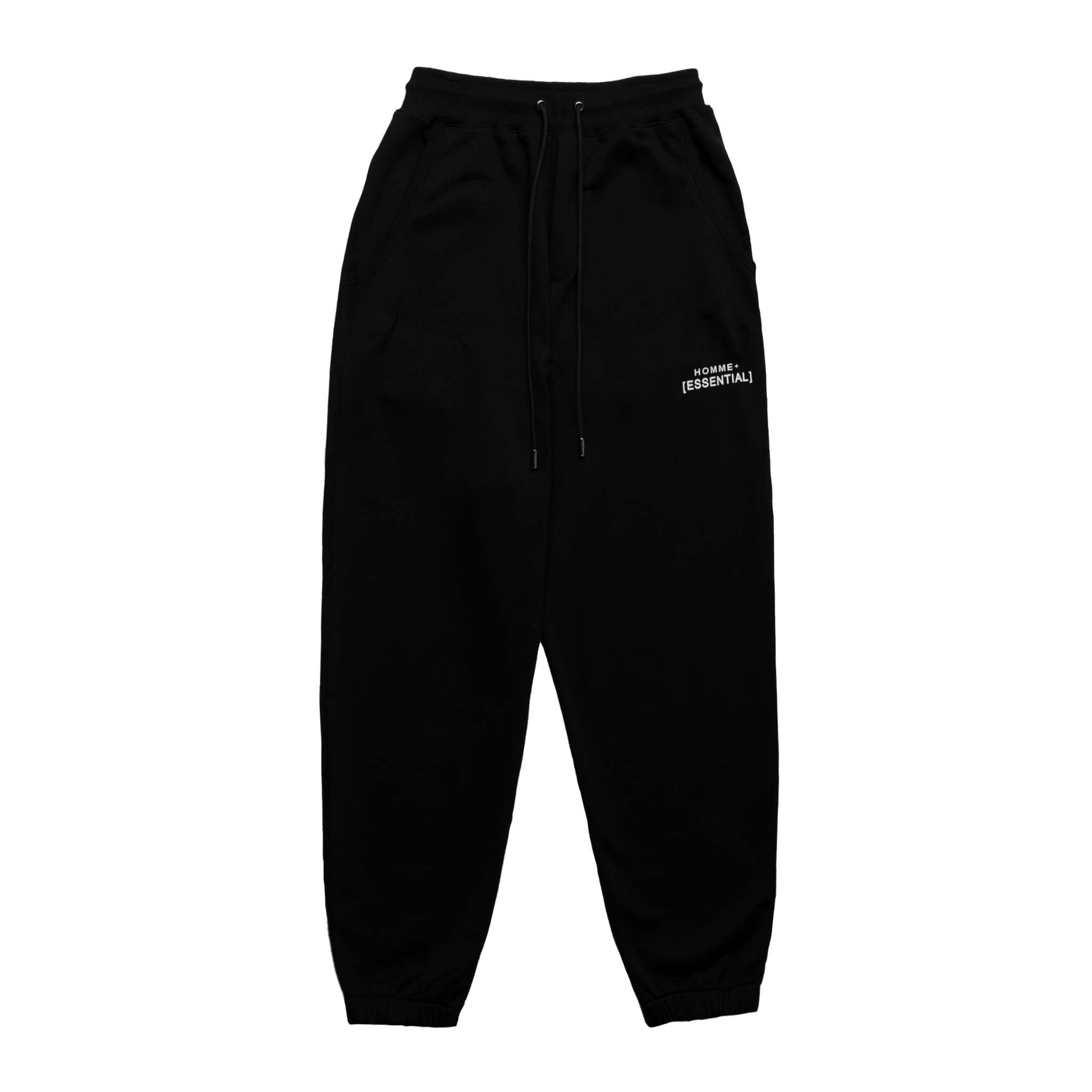 HOMME+ 'ESSENTIAL' Knit Jogger Black