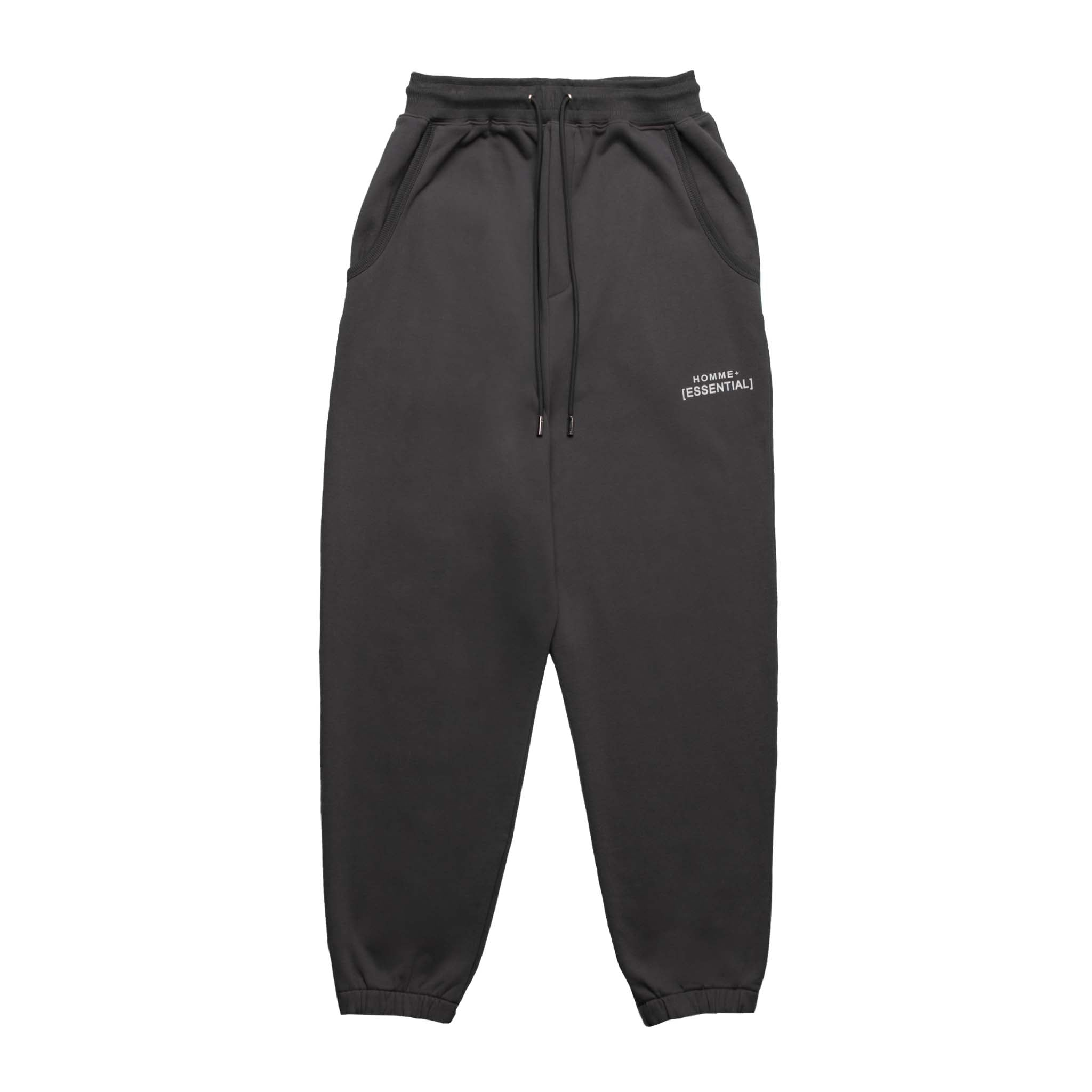 HOMME+ 'ESSENTIAL' Knit Jogger Charcoal