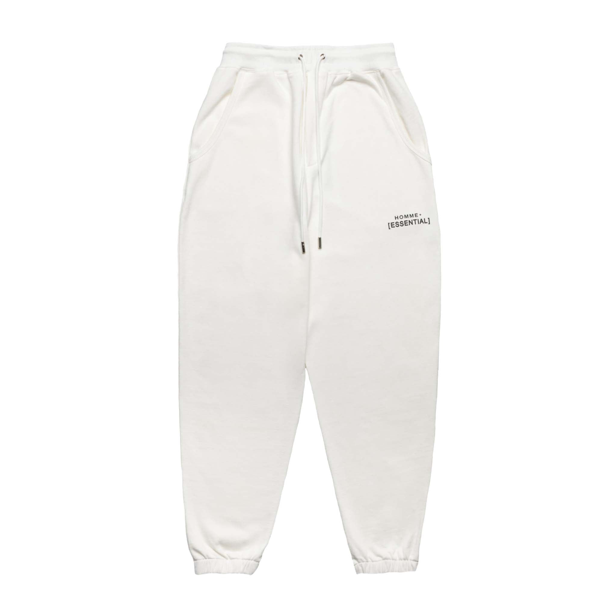 HOMME+ 'ESSENTIAL' Knit Jogger White