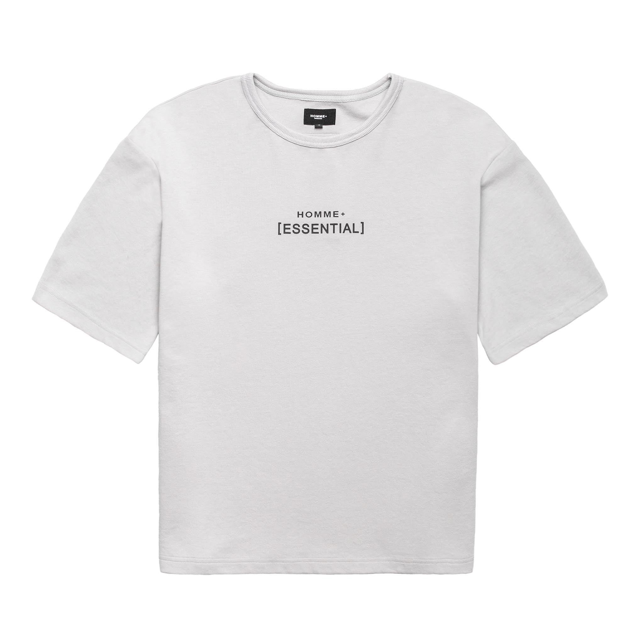 HOMME+ 'ESSENTIAL' Heavyweight Boxy Tee Grey