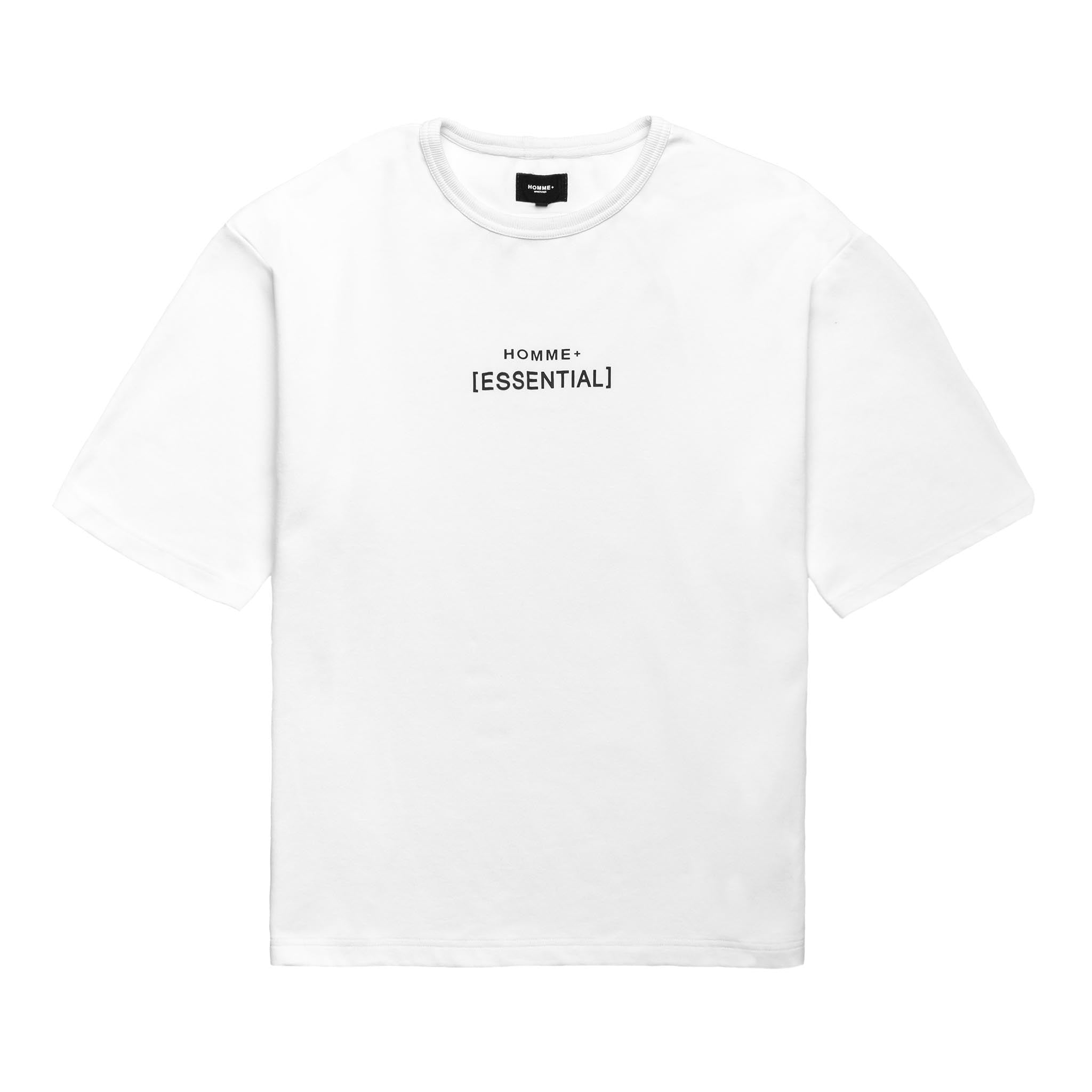 HOMME+ 'ESSENTIAL' Heavyweight Boxy Tee White
