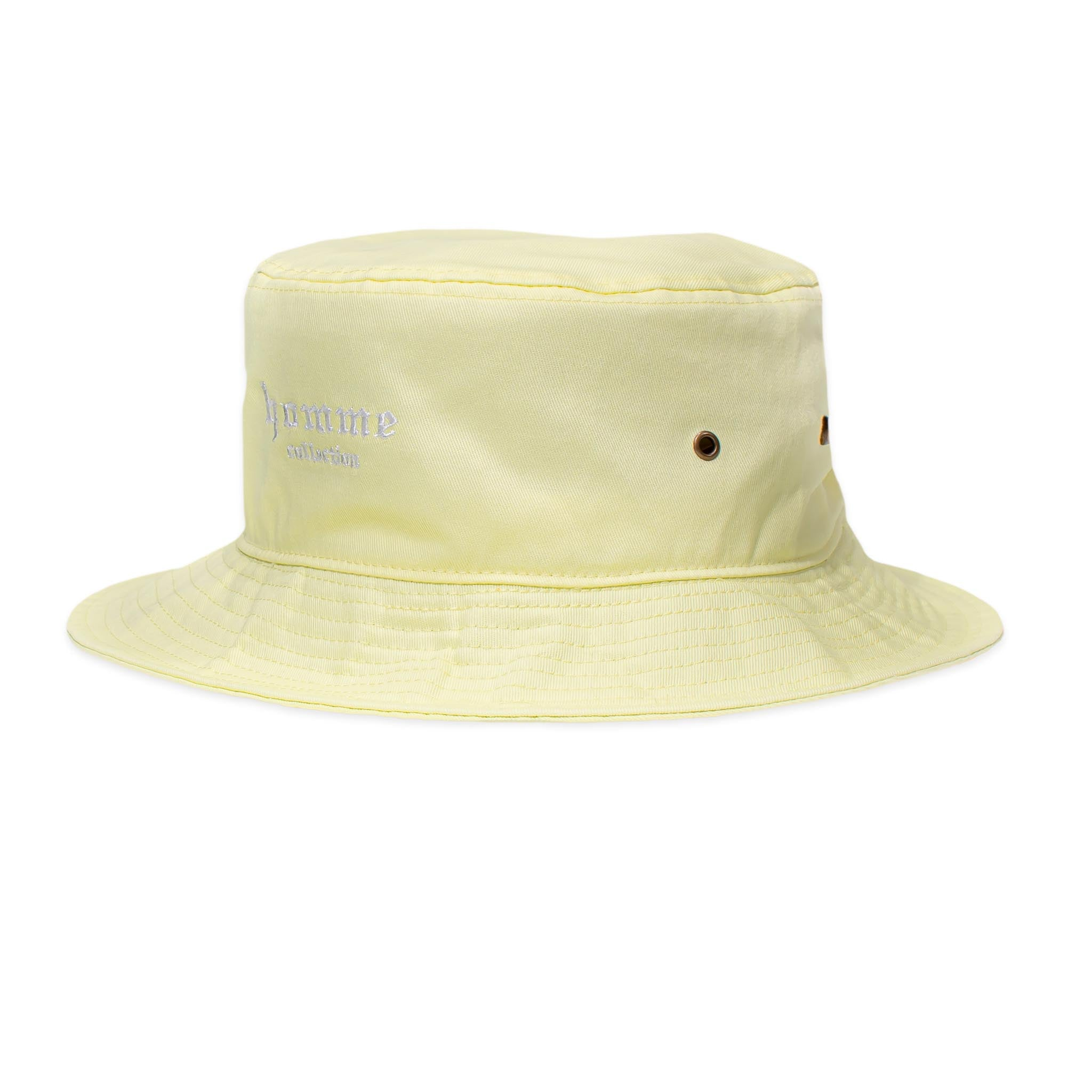HOMME+ Collection Bucket Hat Light Yellow