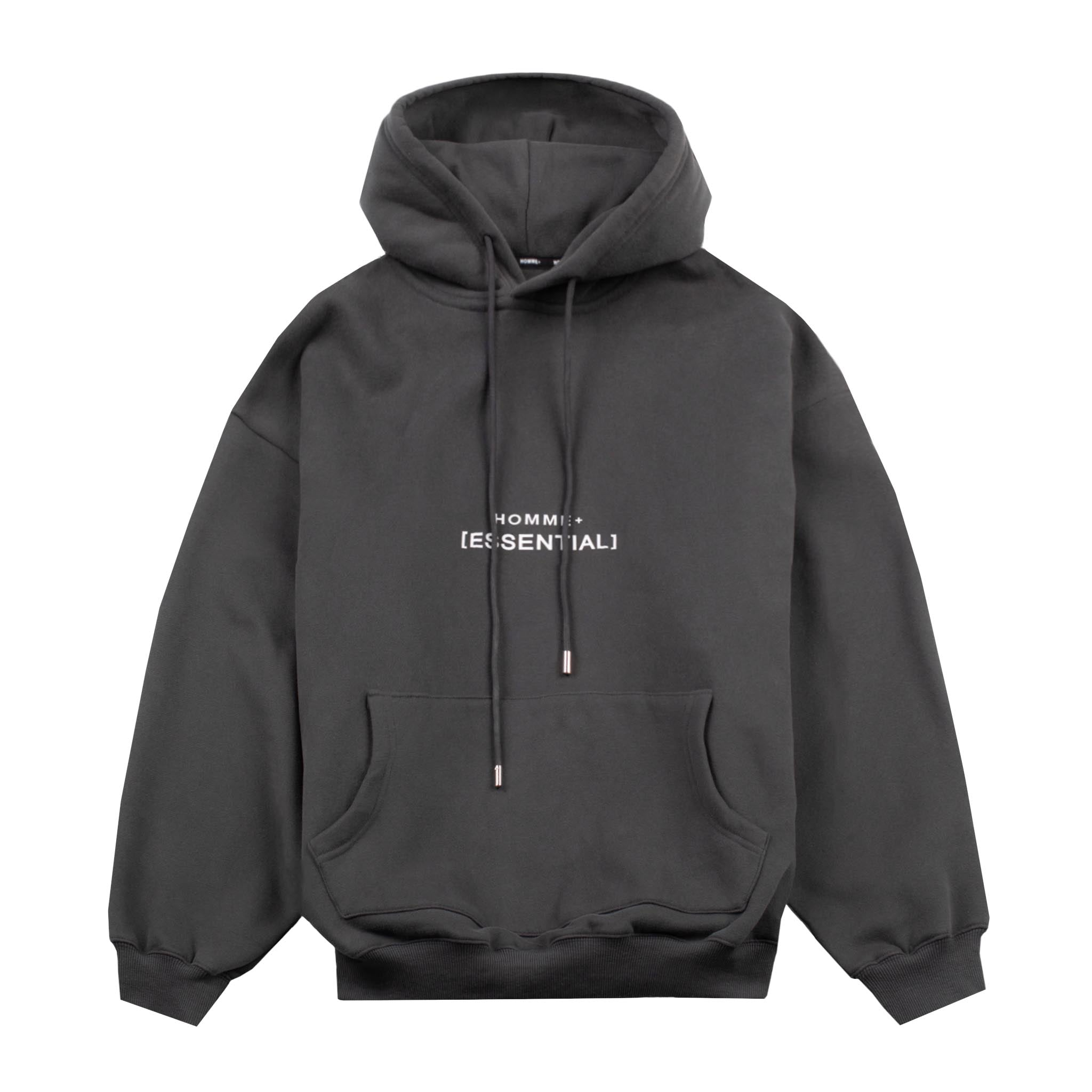 HOMME+ 'ESSENTIAL' Heavyweight Hoodie Charcoal