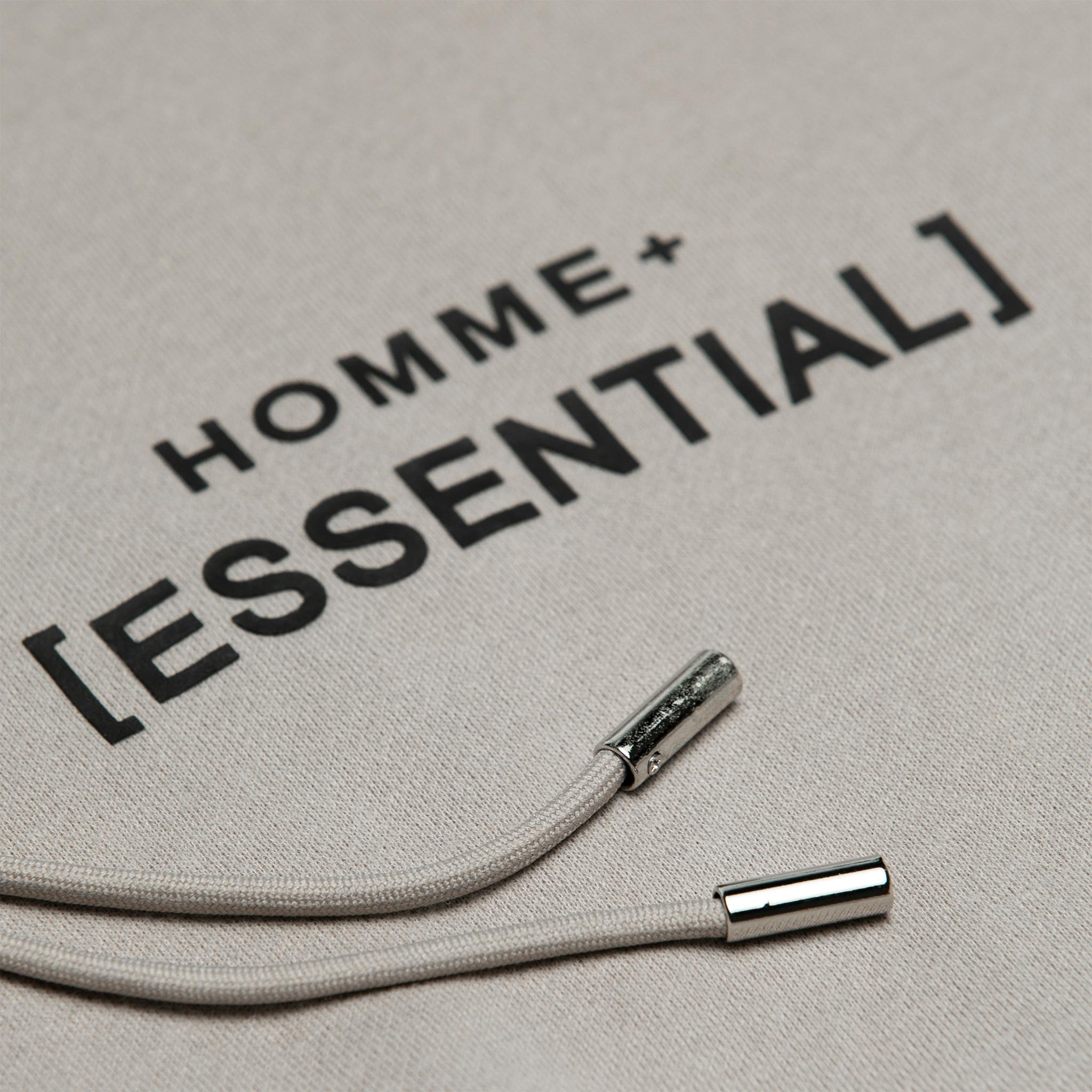 HOMME+ 'ESSENTIAL' Heavyweight Hoodie Cement