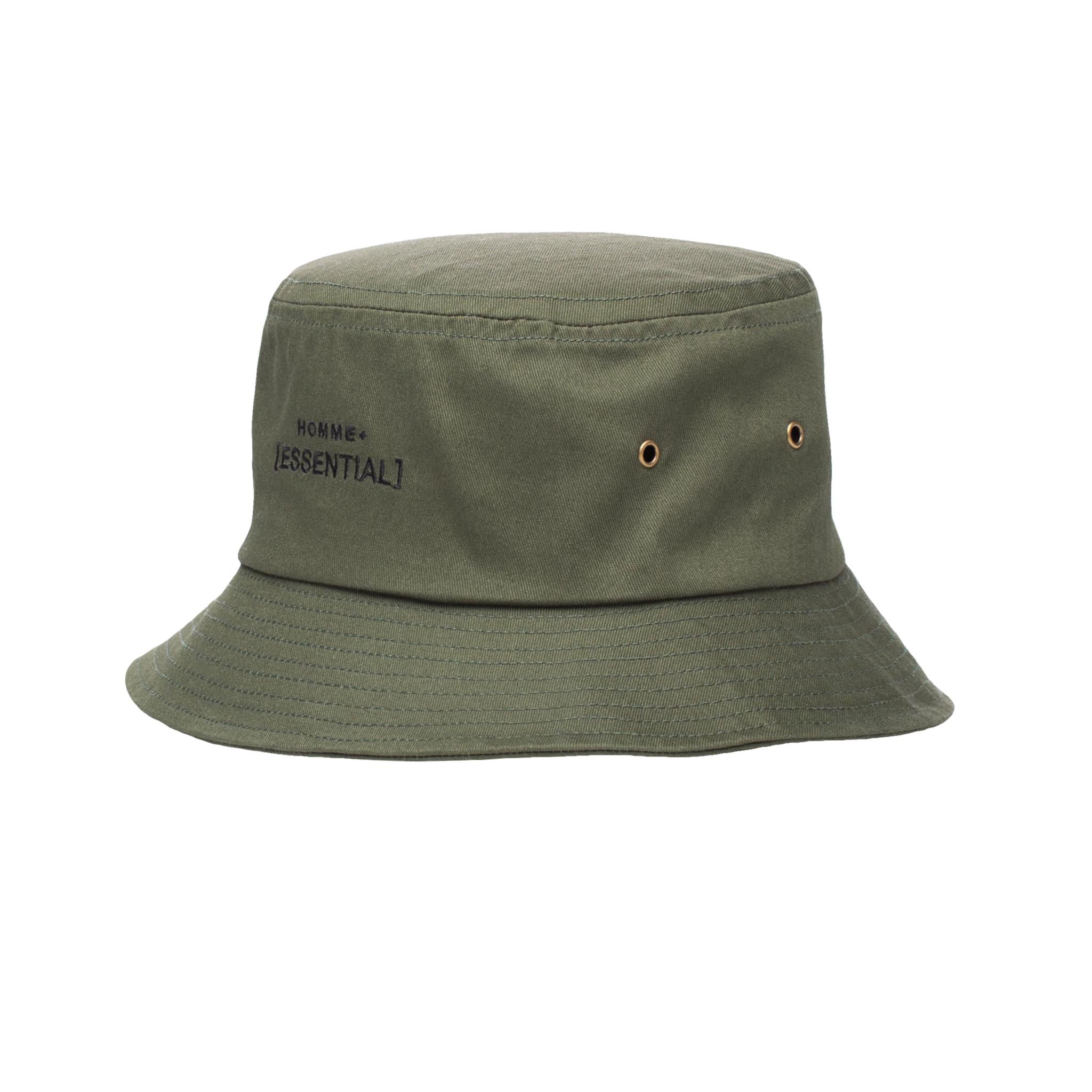 HOMME+ ESSENTIAL Bucket Hat Army