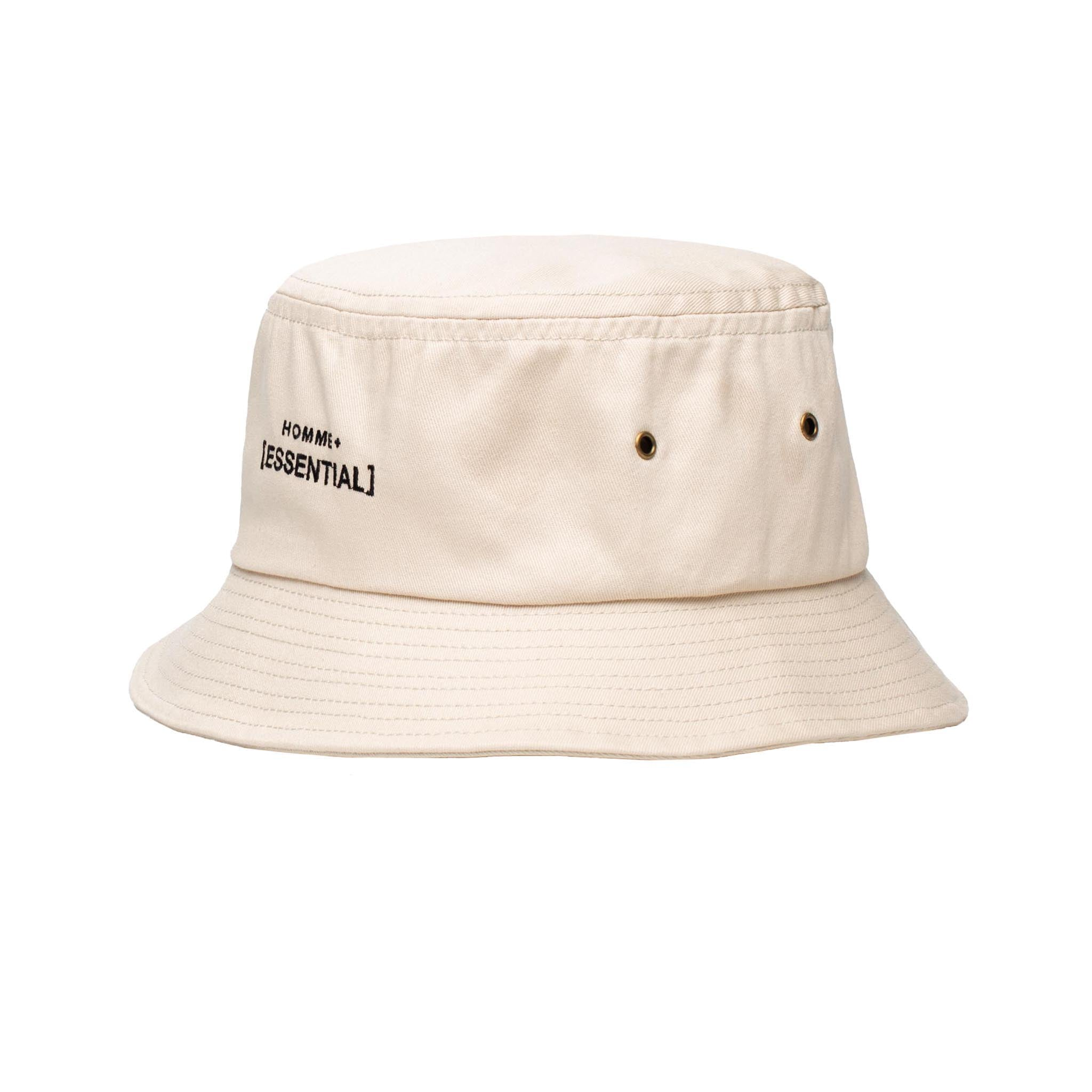 HOMME+ ESSENTIAL Bucket Hat Beige