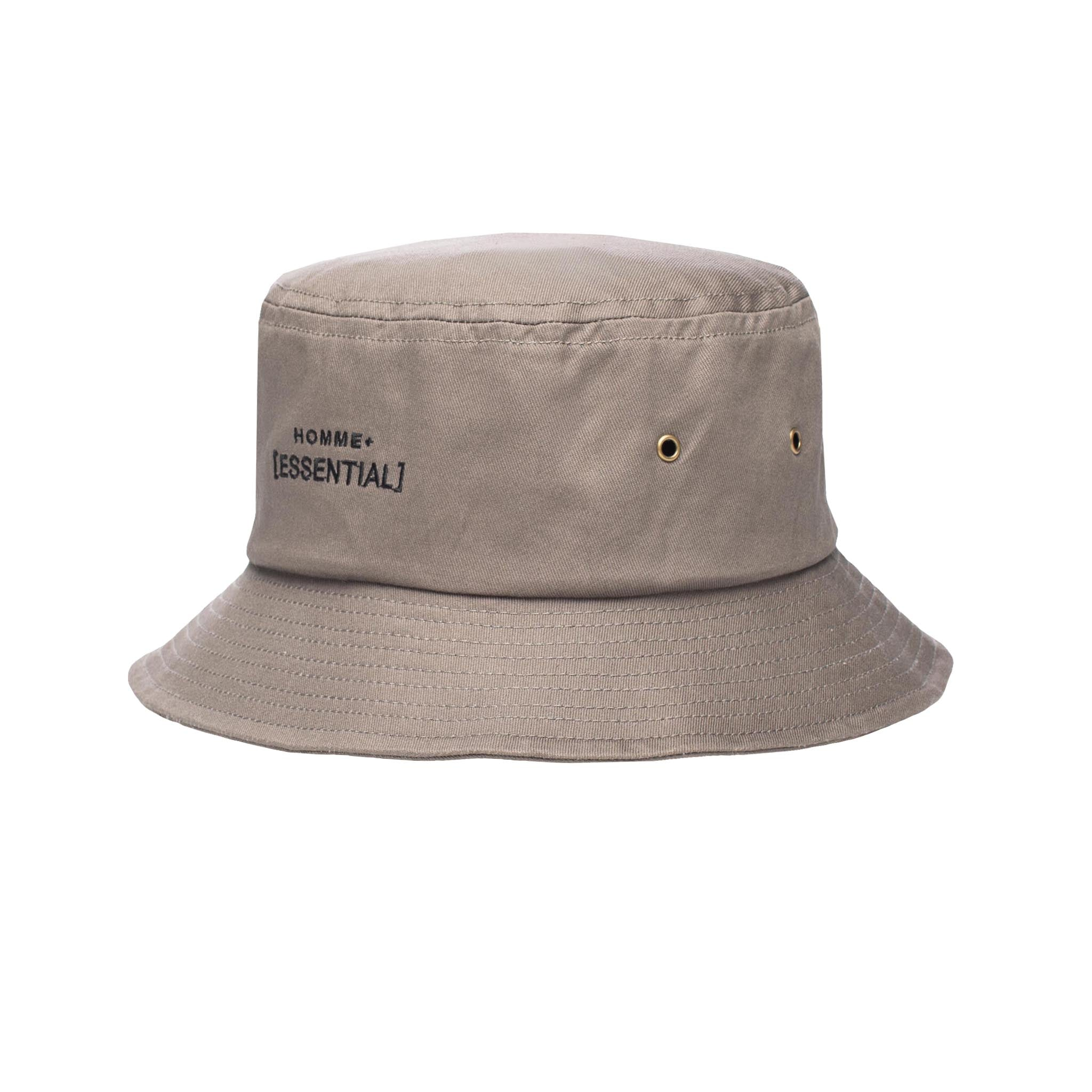 HOMME+ ESSENTIAL Bucket Hat Charcoal/Black