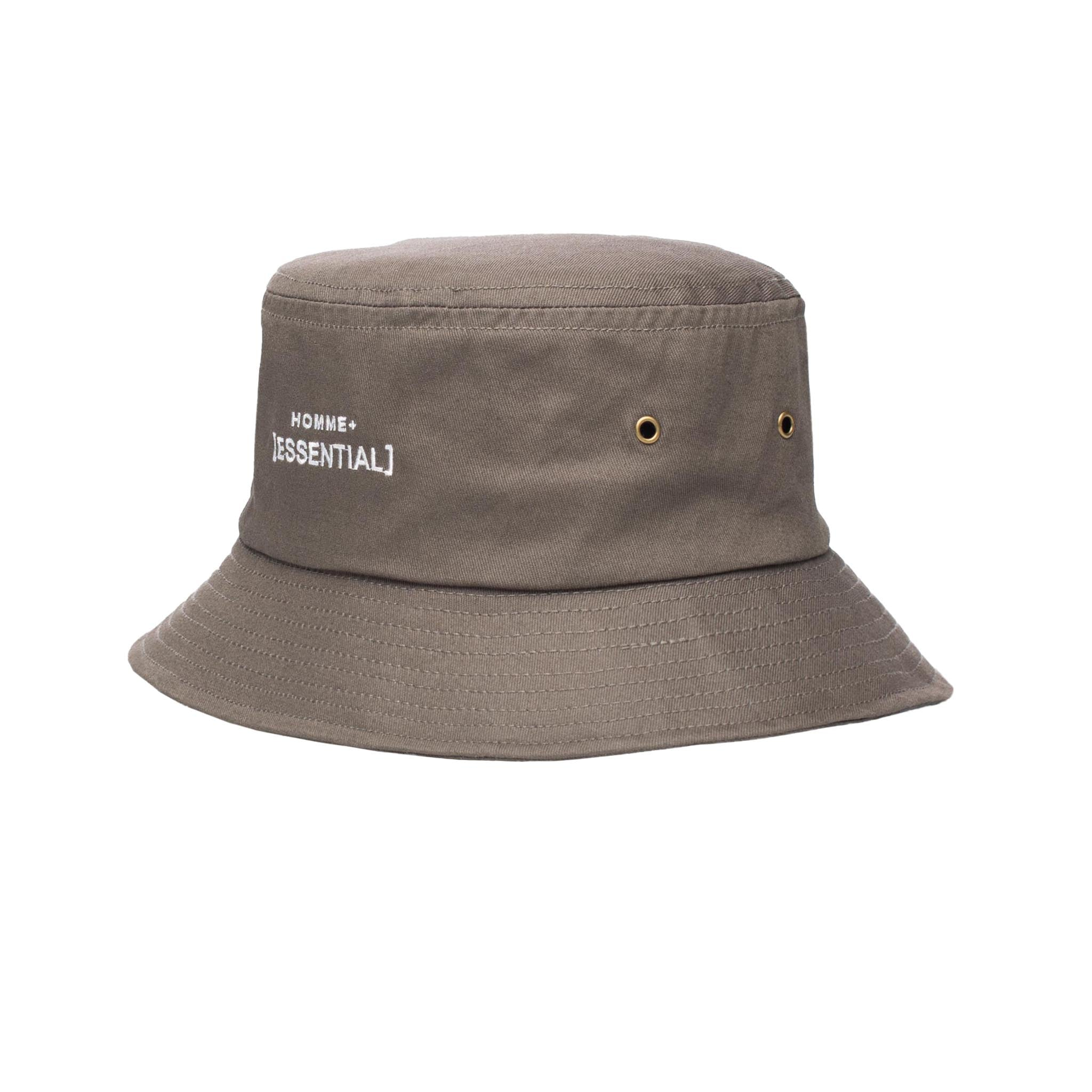 HOMME+ ESSENTIAL Bucket Hat Charcoal/White