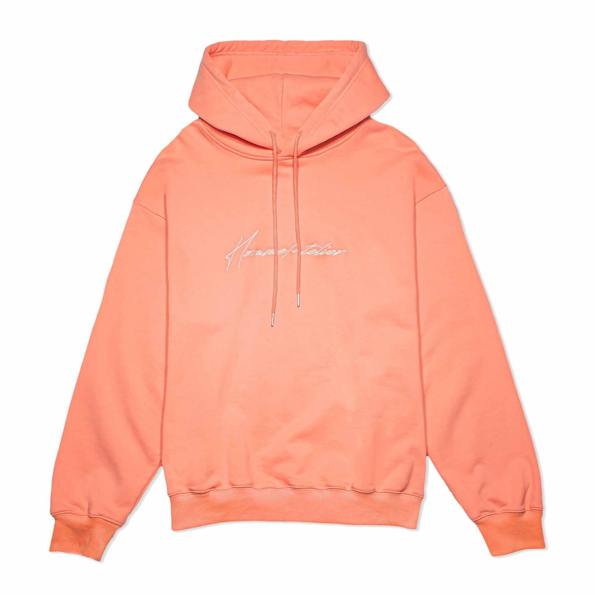 HOMME+ Atelier Embroidery Hoodie Coral