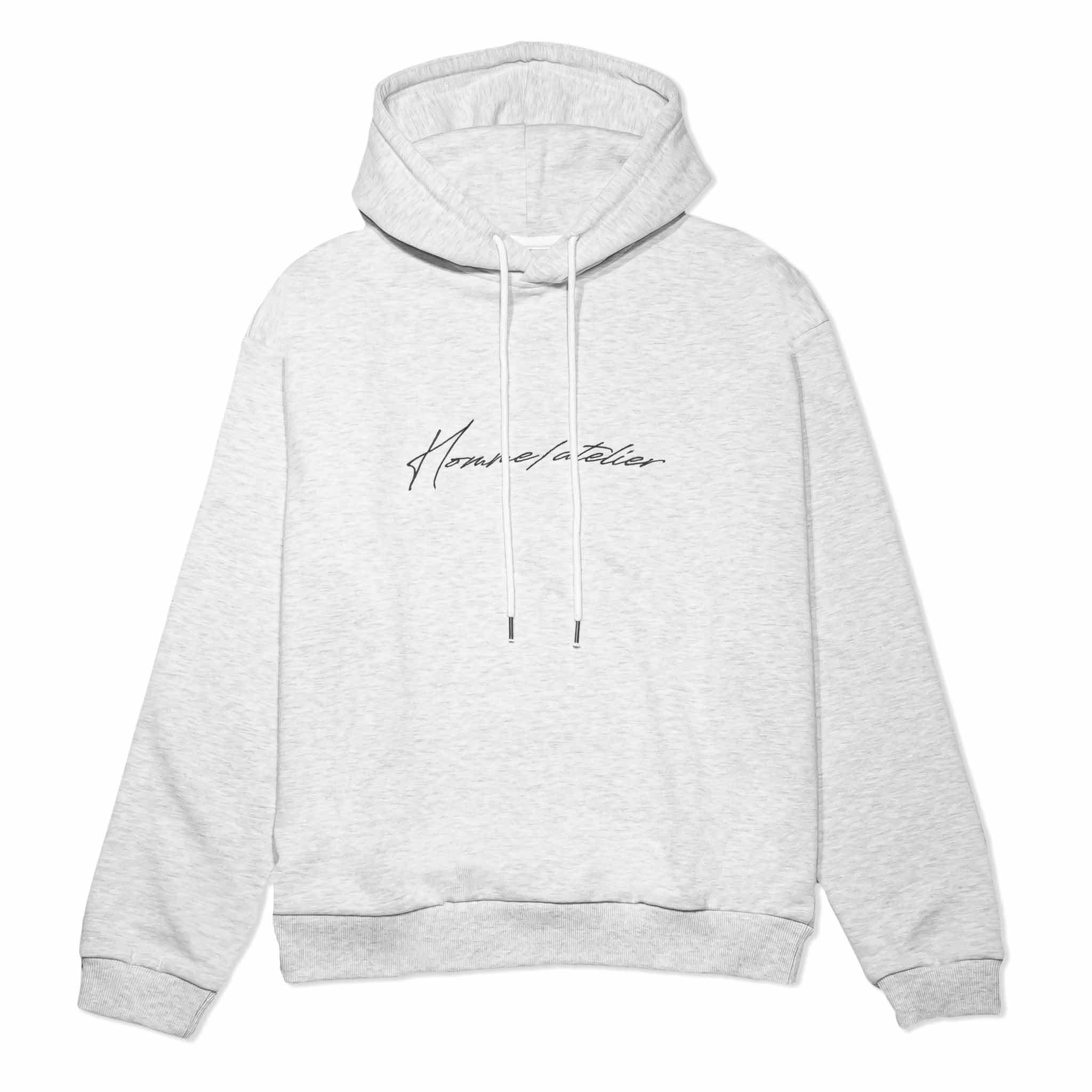 HOMME+ Atelier Embroidery Hoodie Oatmeal