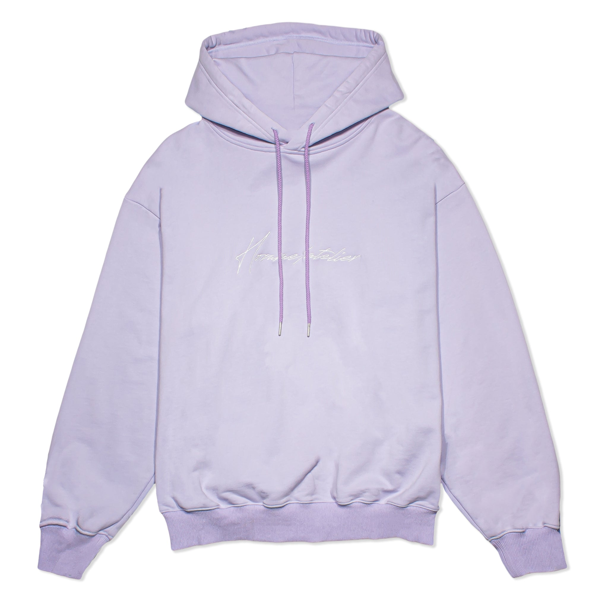 HOMME+ Atelier Embroidery Hoodie Lilac