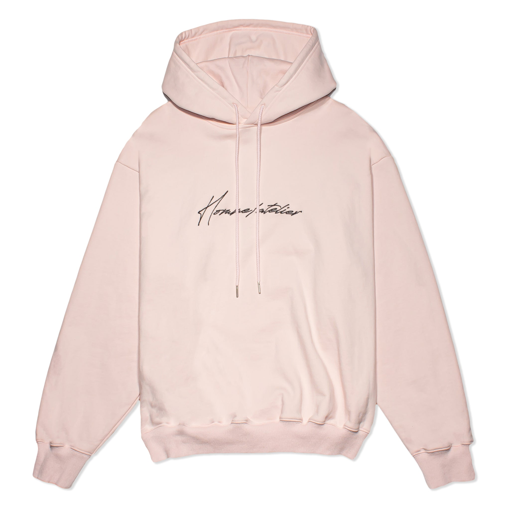 HOMME+ Atelier Embroidery Hoodie Pink