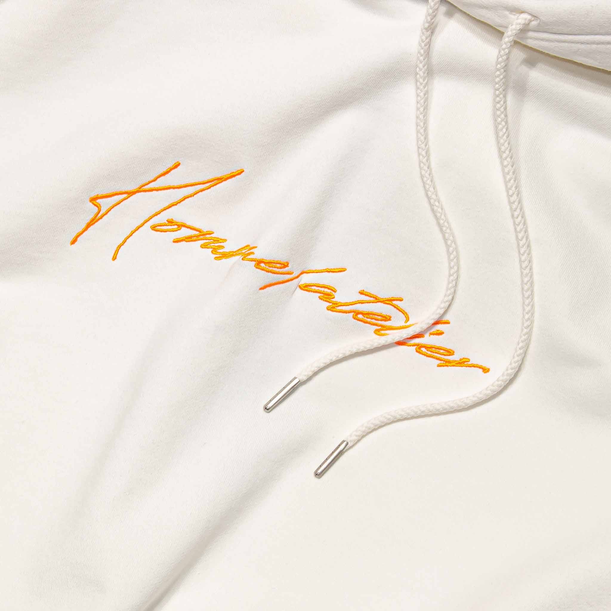 HOMME+ Atelier Embroidery Hoodie White/Orange