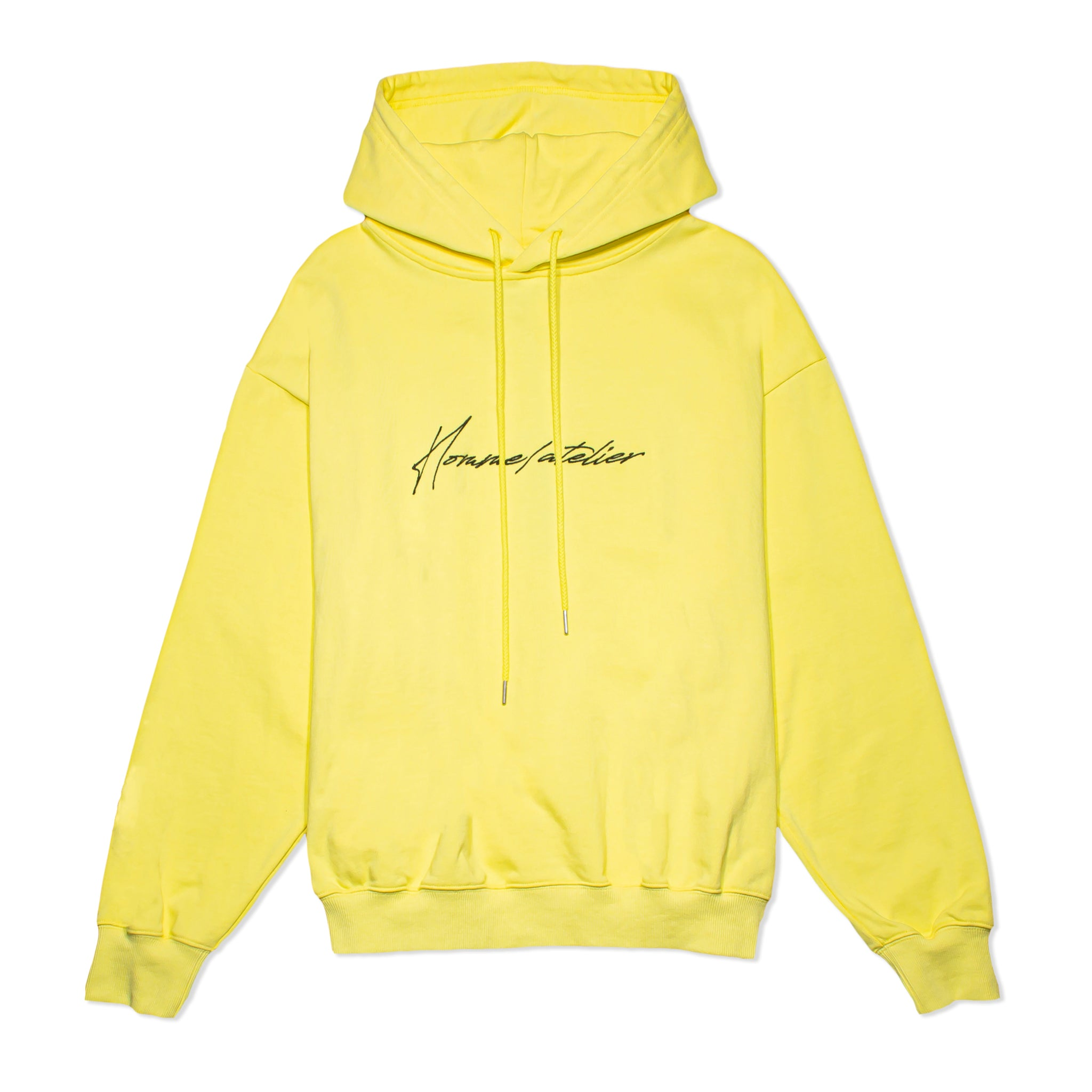 HOMME+ Atelier Embroidery Hoodie Yellow