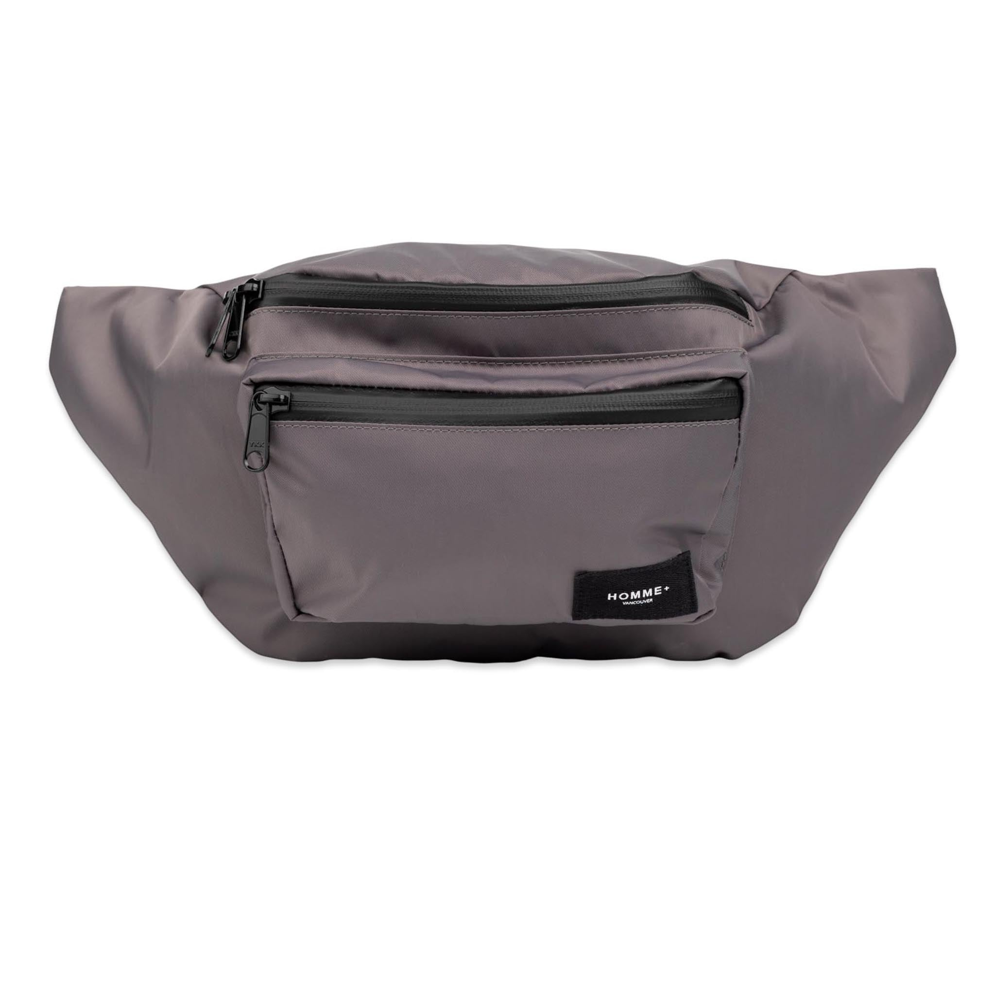 HOMME+ Large Nylon Waist Pack Charcoal