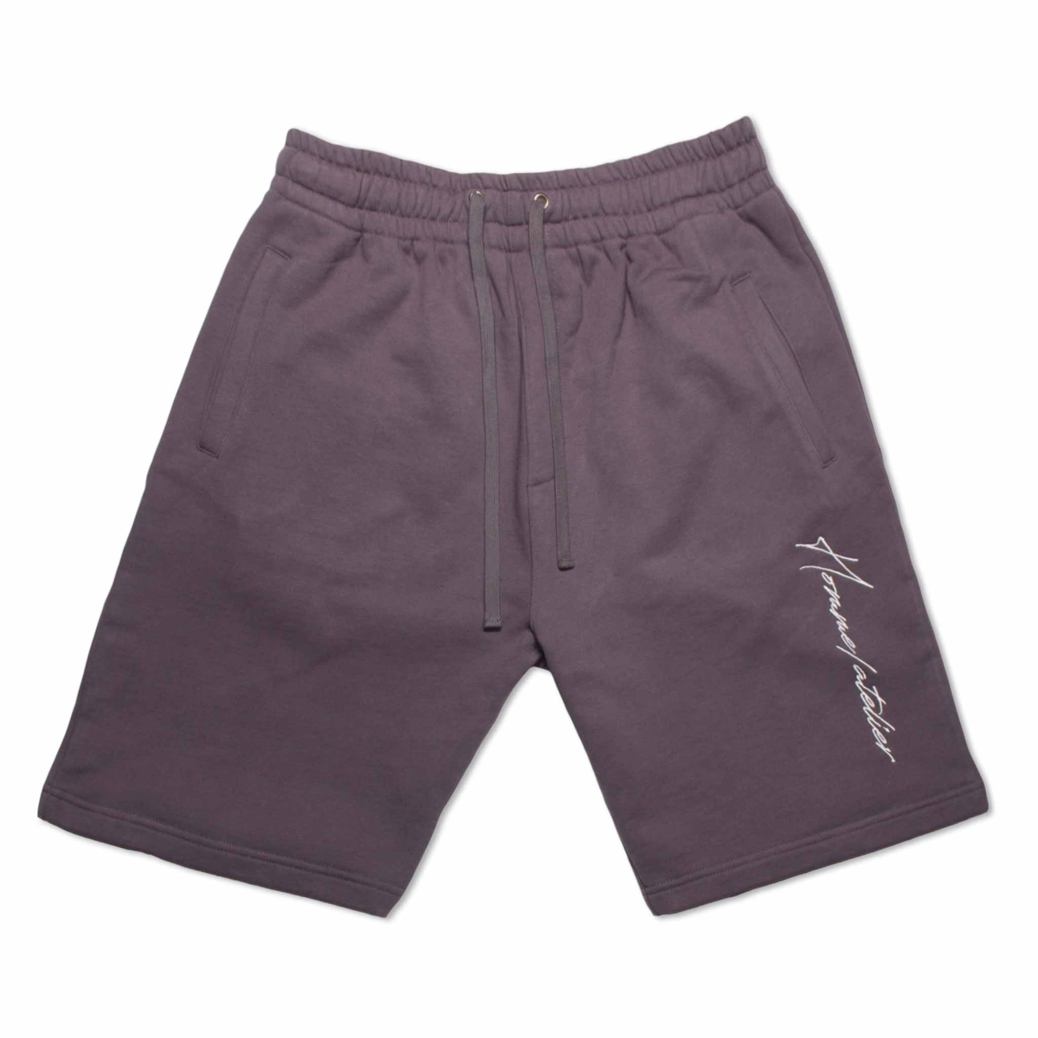 HOMME+ Embroidery Shorts Charcoal