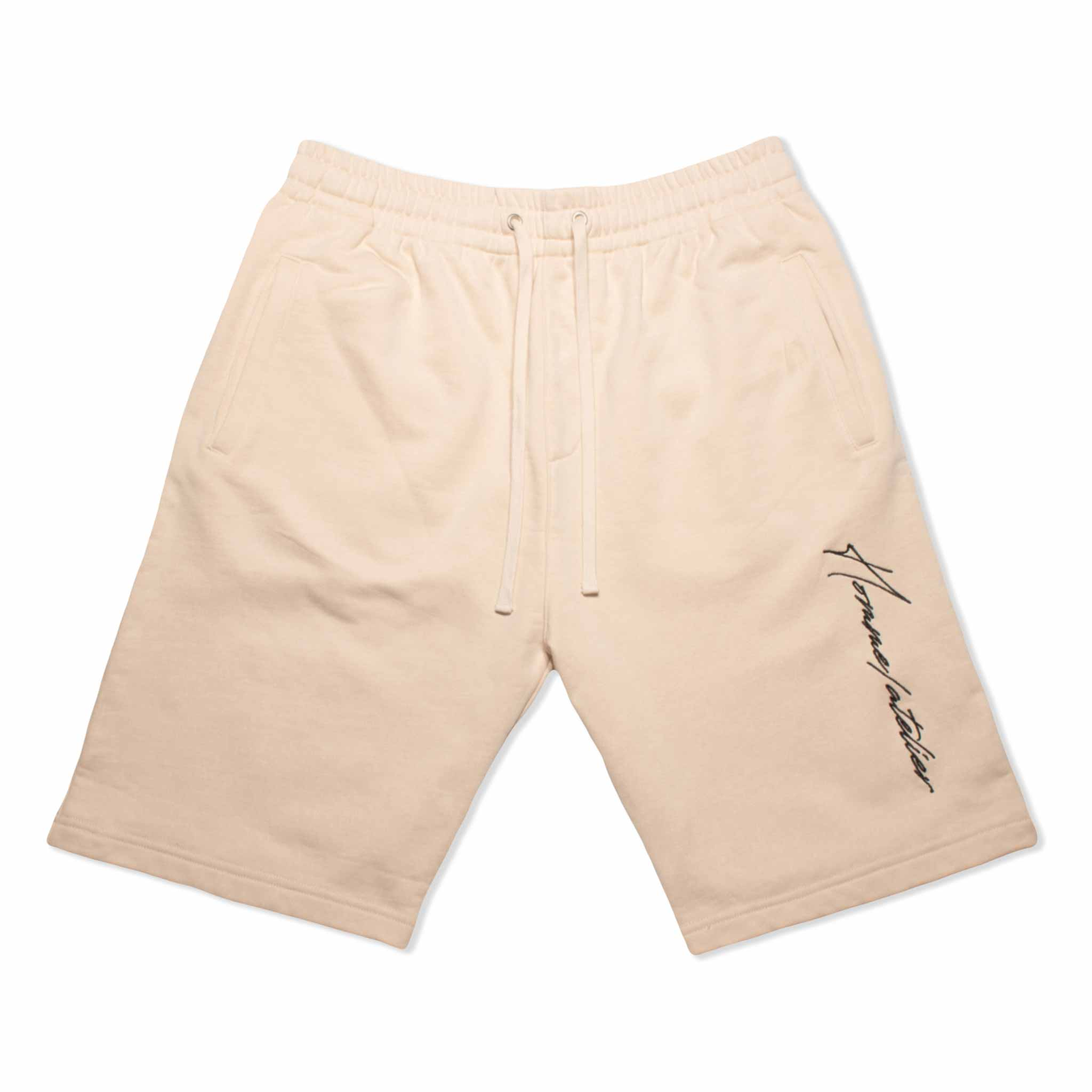 HOMME+ Atelier Embroidery Shorts Light Beige