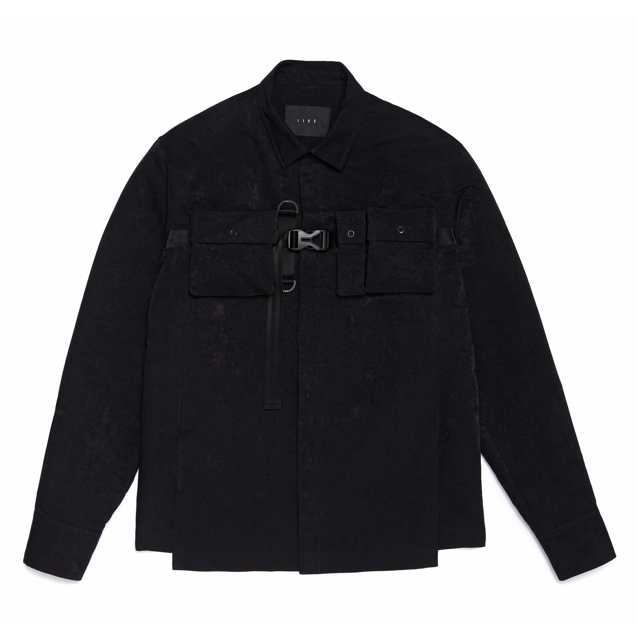 IISE Utility Long Sleeve Overshirt Black
