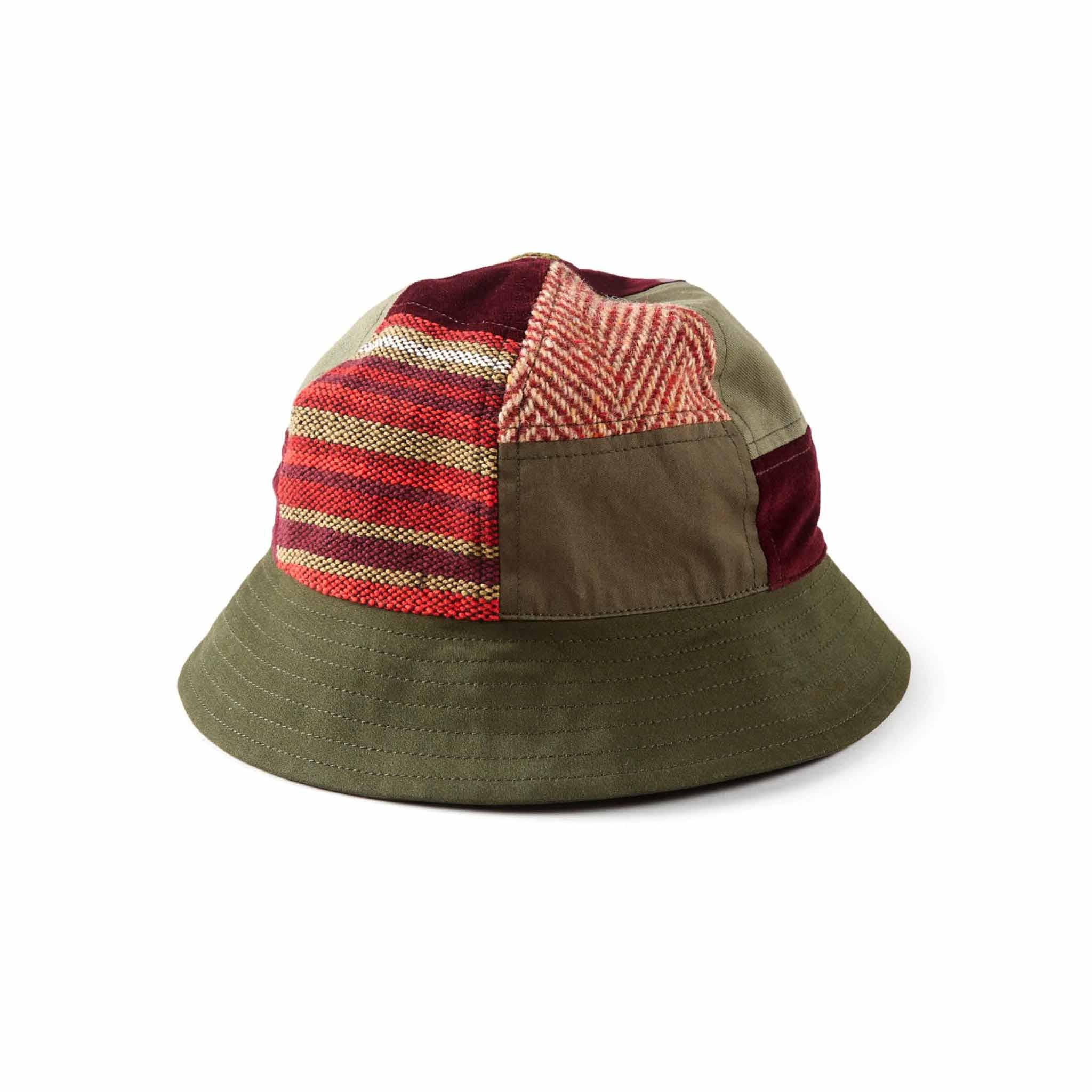 Maharishi Patchwork B Hat Olive/Red