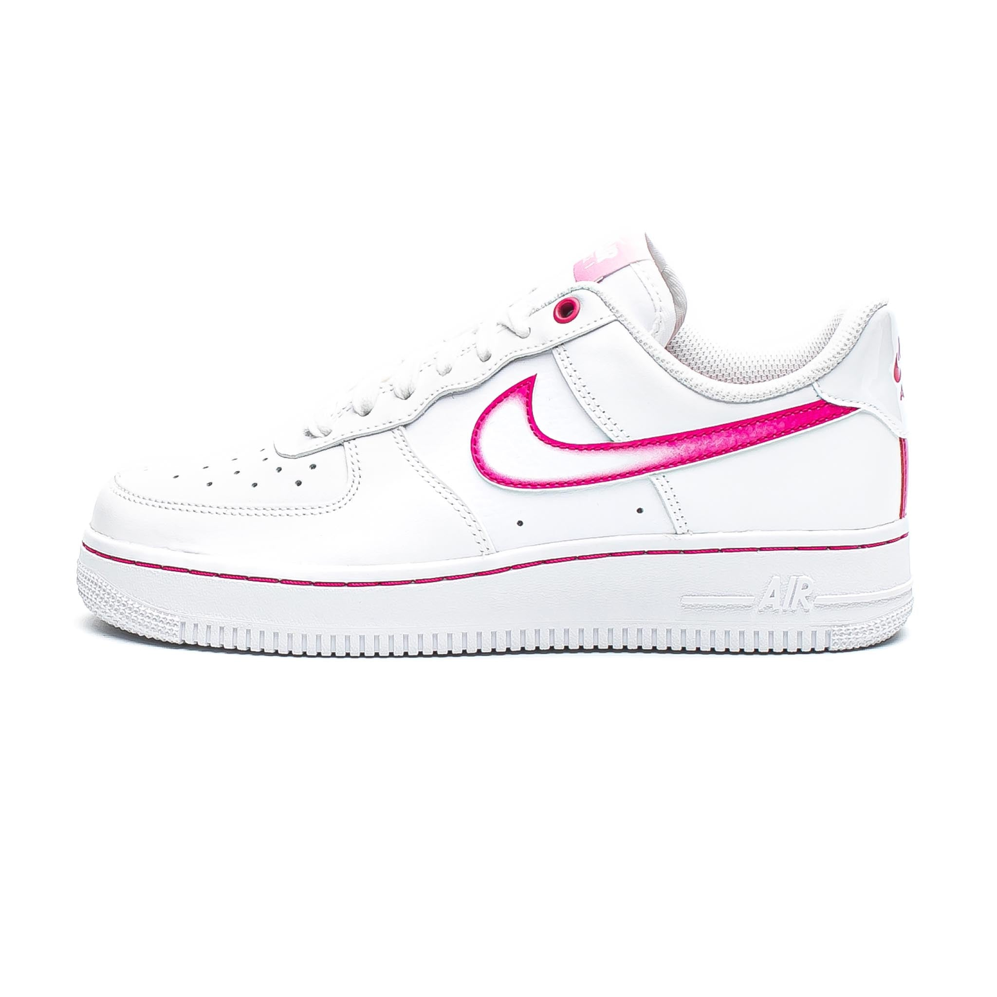 NIike Air Force 1 '07 'Airbrush' White/Fireberry