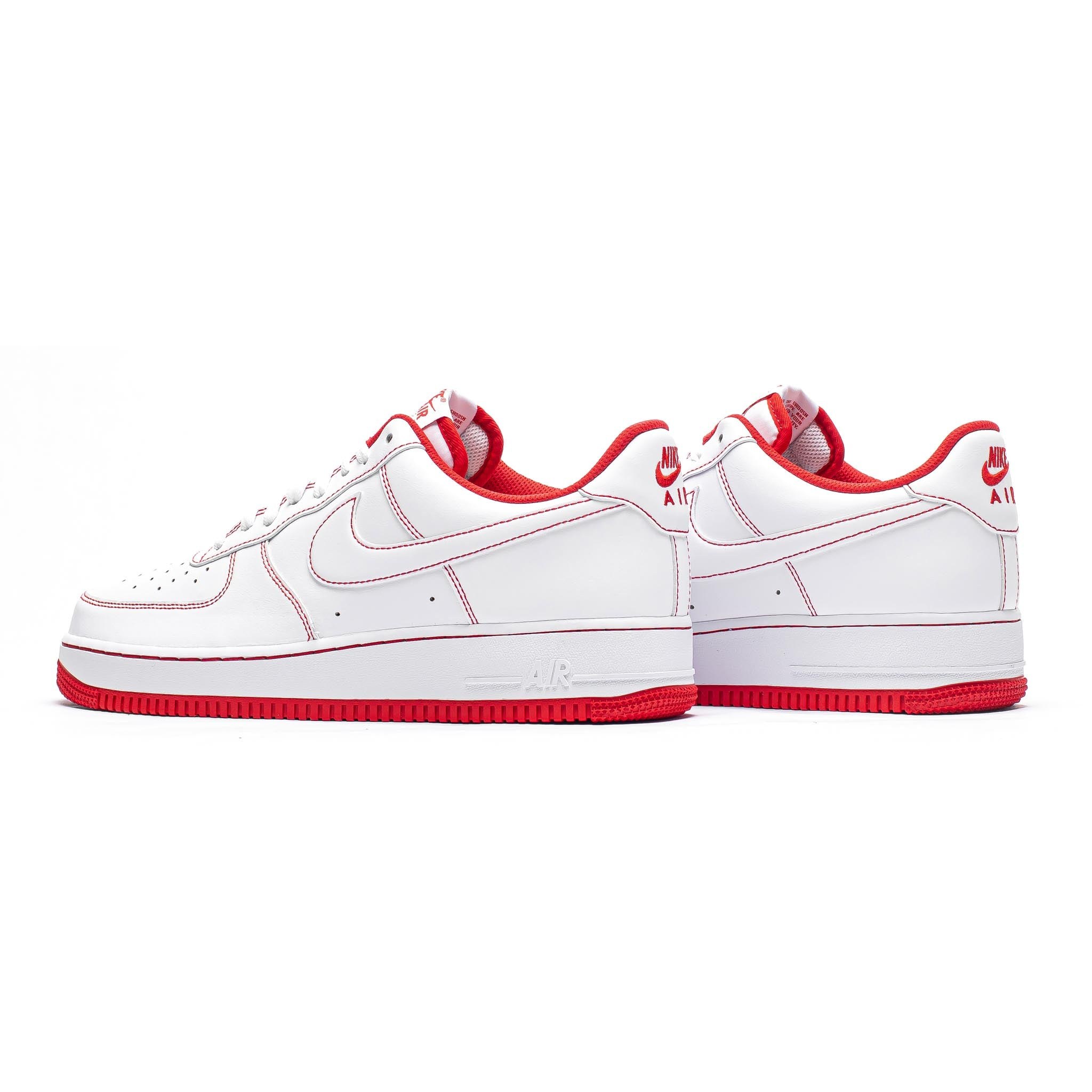 Nike Air Force 1 '07 'Contrast Stitch' White/University Red