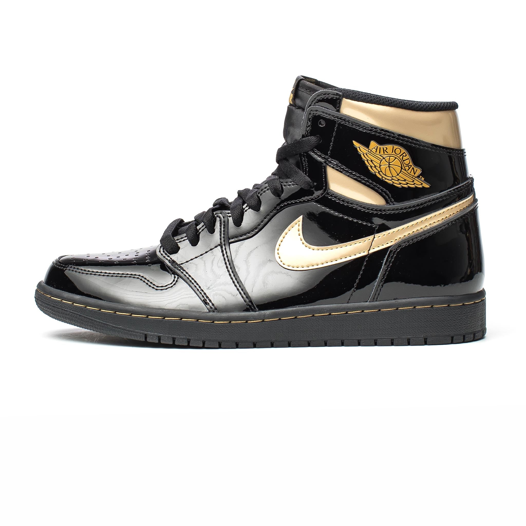 Air Jordan 1 Retro High OG Patent 'Black/Metallic Gold'