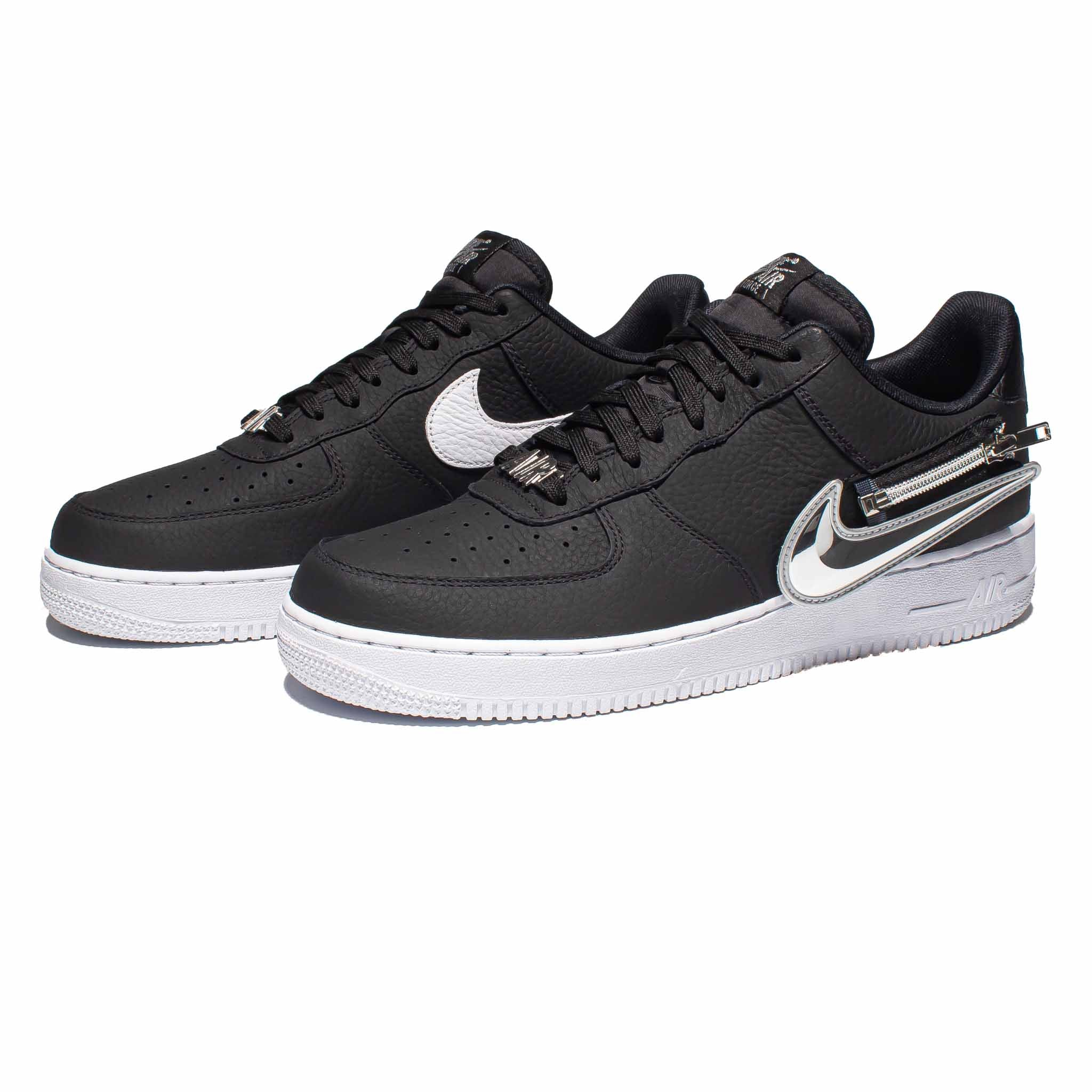 Nike Air Force 1 '07 PRM 'Zip Swoosh' Black