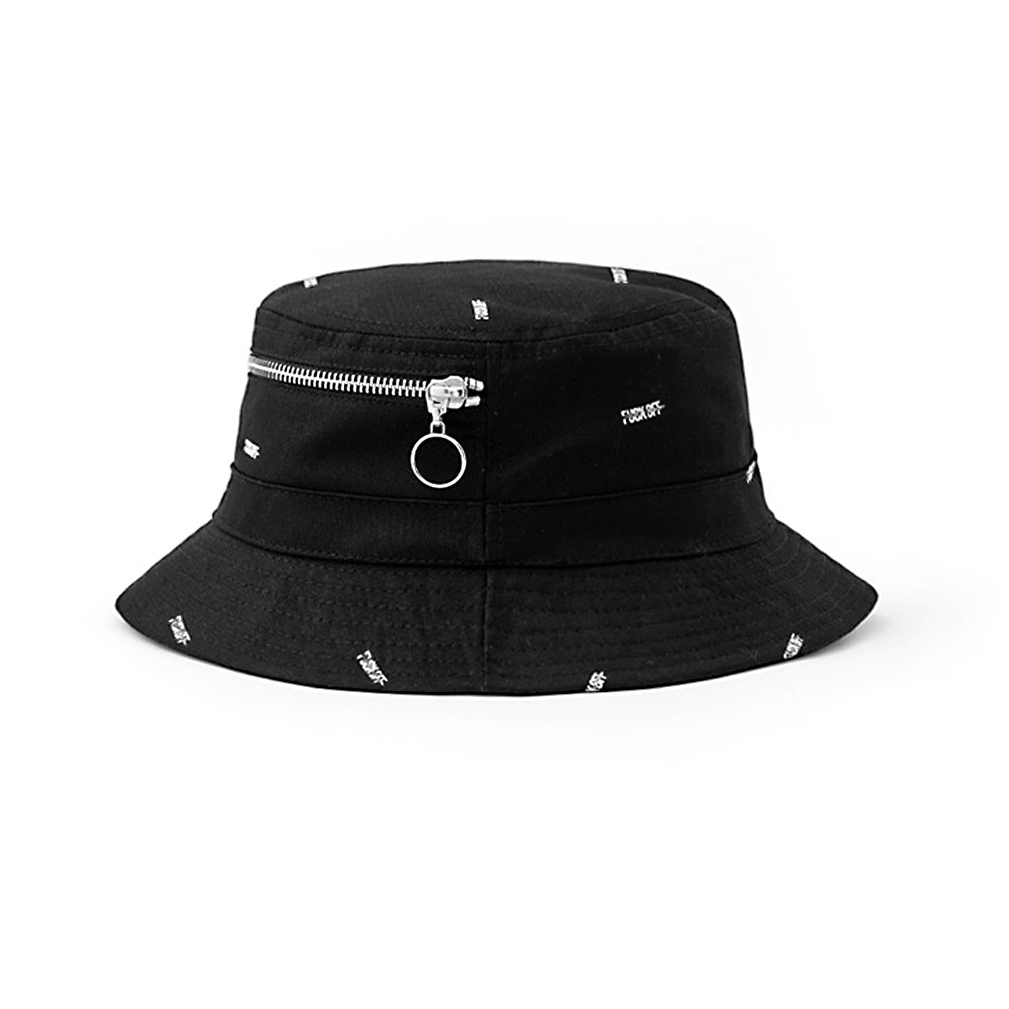 STAMPD F*** Off Bucket Hat Black