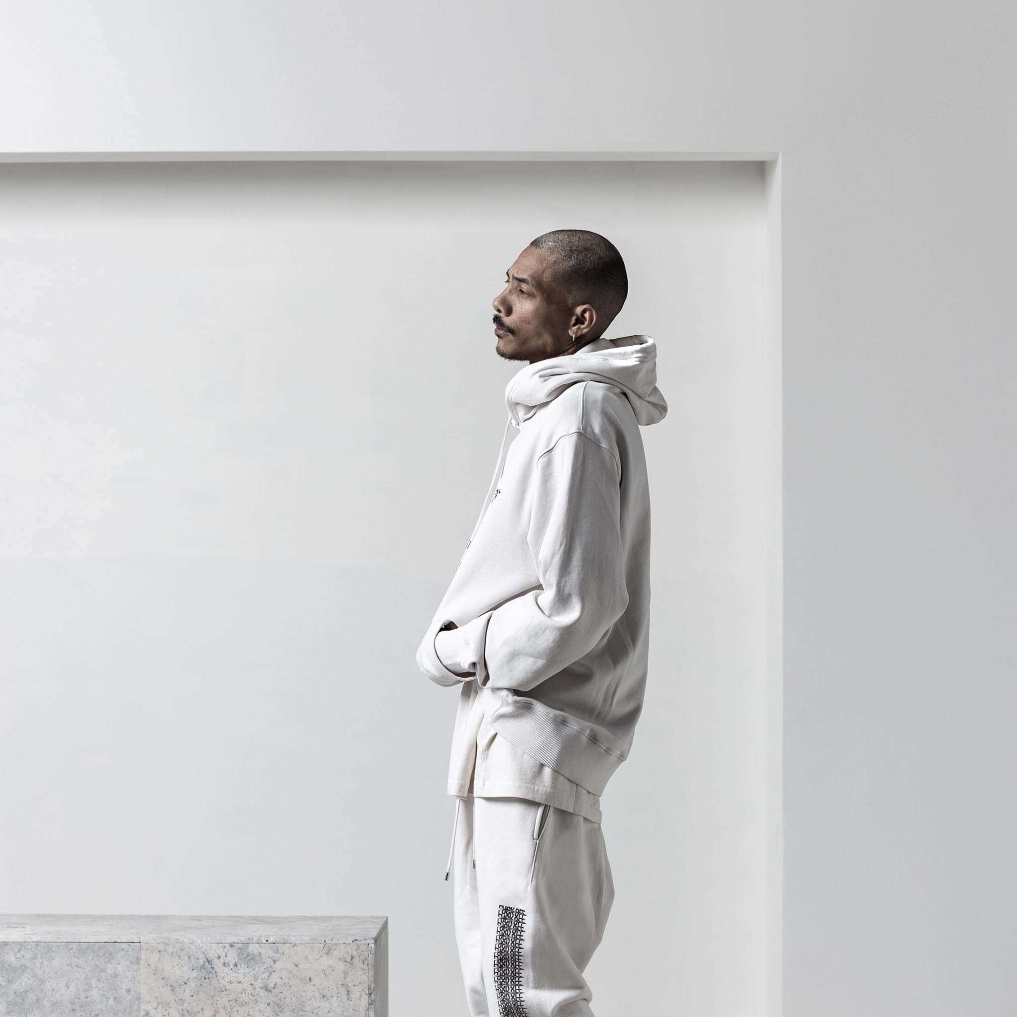 STAMPD Tumbled Shadow Leopard Hoodie Cement