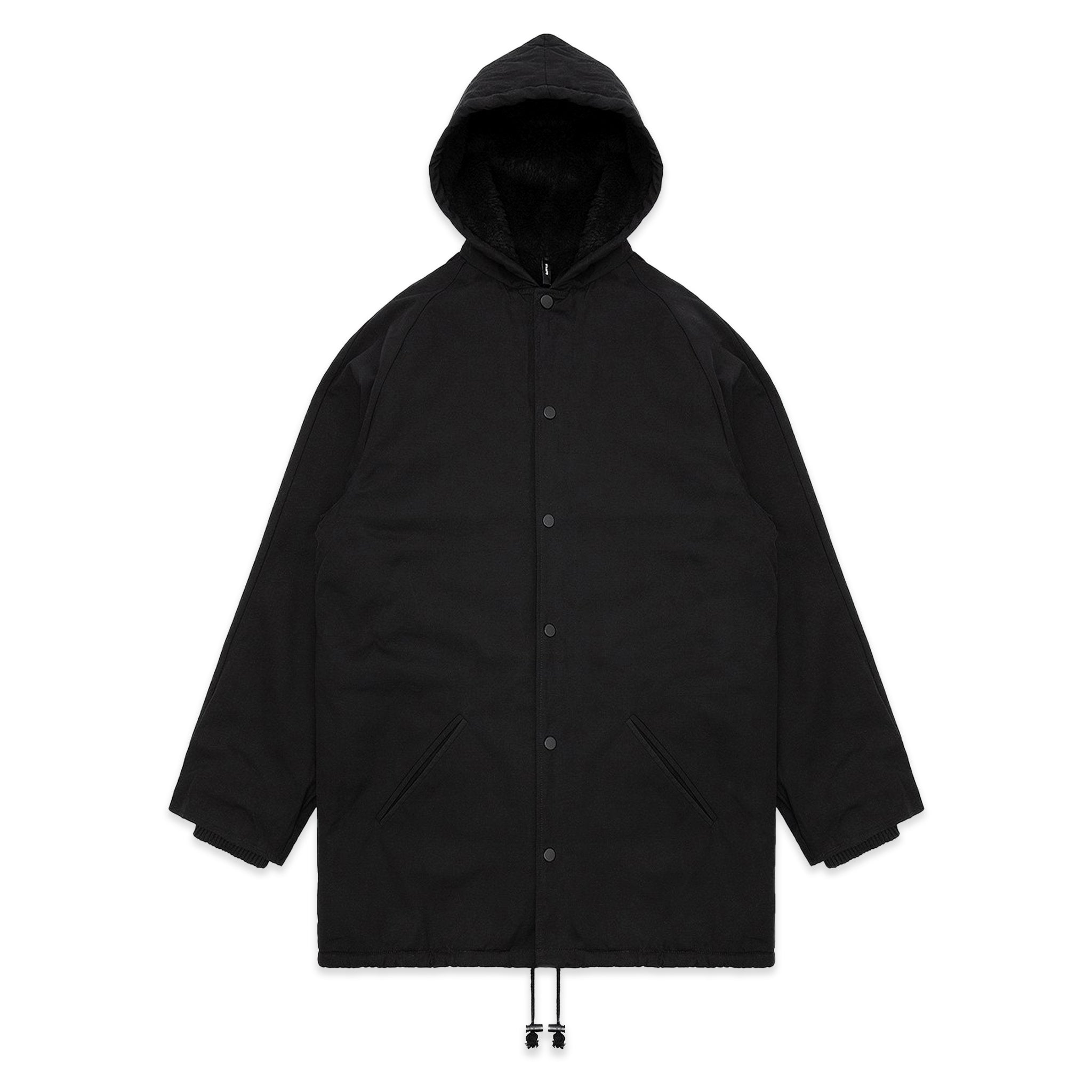 STAMPD Zepplin Overcoat Black