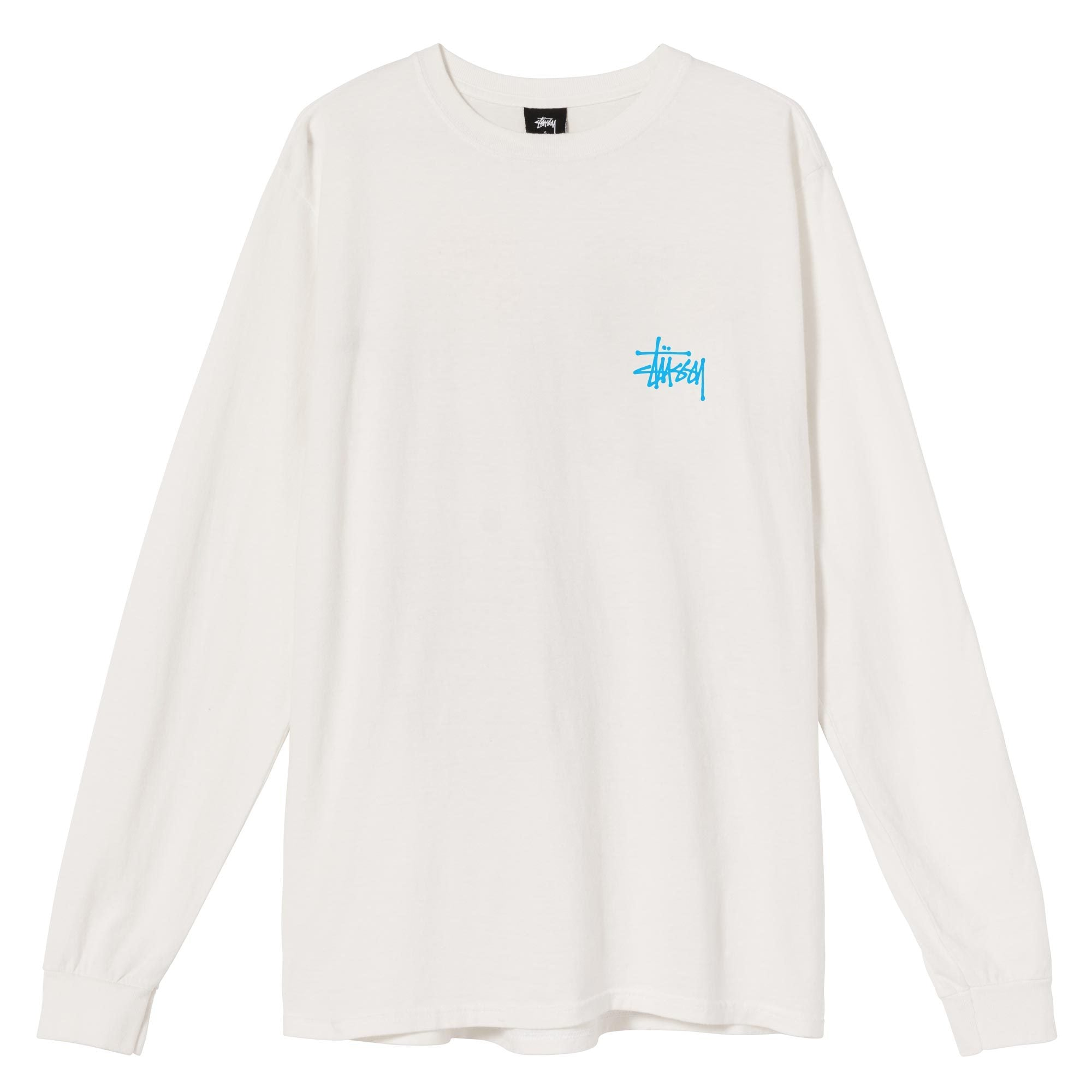 Stussy Basic Stussy Pigment Dyed Long Sleeve Tee Natural