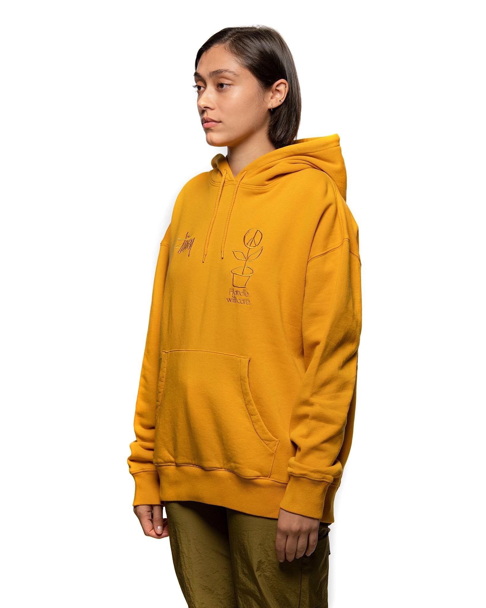 Stussy Care Hoodie Gold